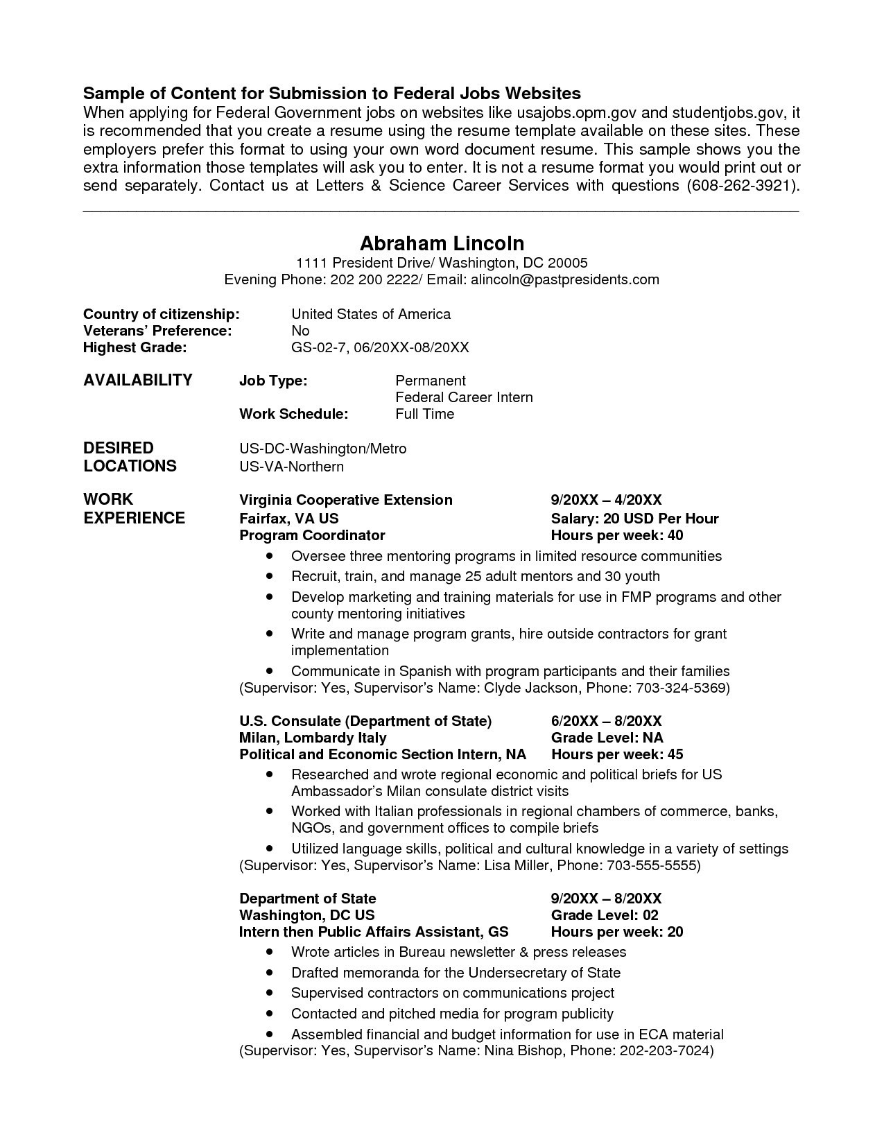 Government Job Resume format - Beautiful Usa Jobs Resume format Cv Resume