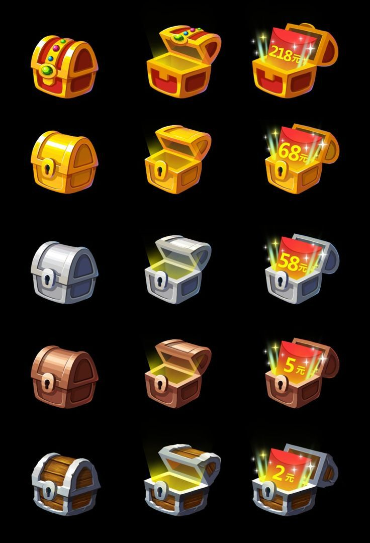 gumi icons Collection-Image result for mobile game chest Game Icon Design 2d Game Art Video Game 11-s