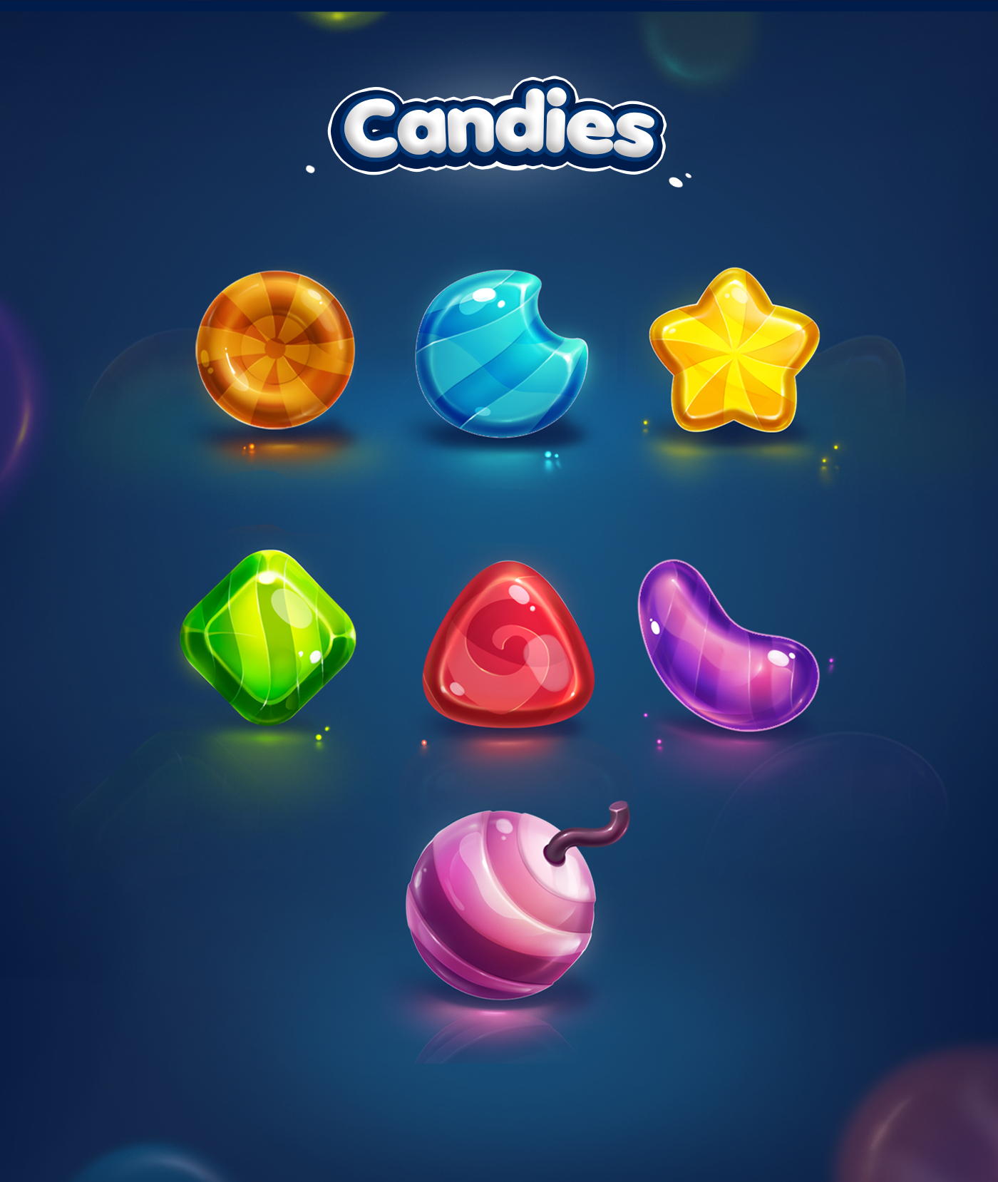 Gumi Icons - Candy Game Design Game Items In 2018 Pinterest