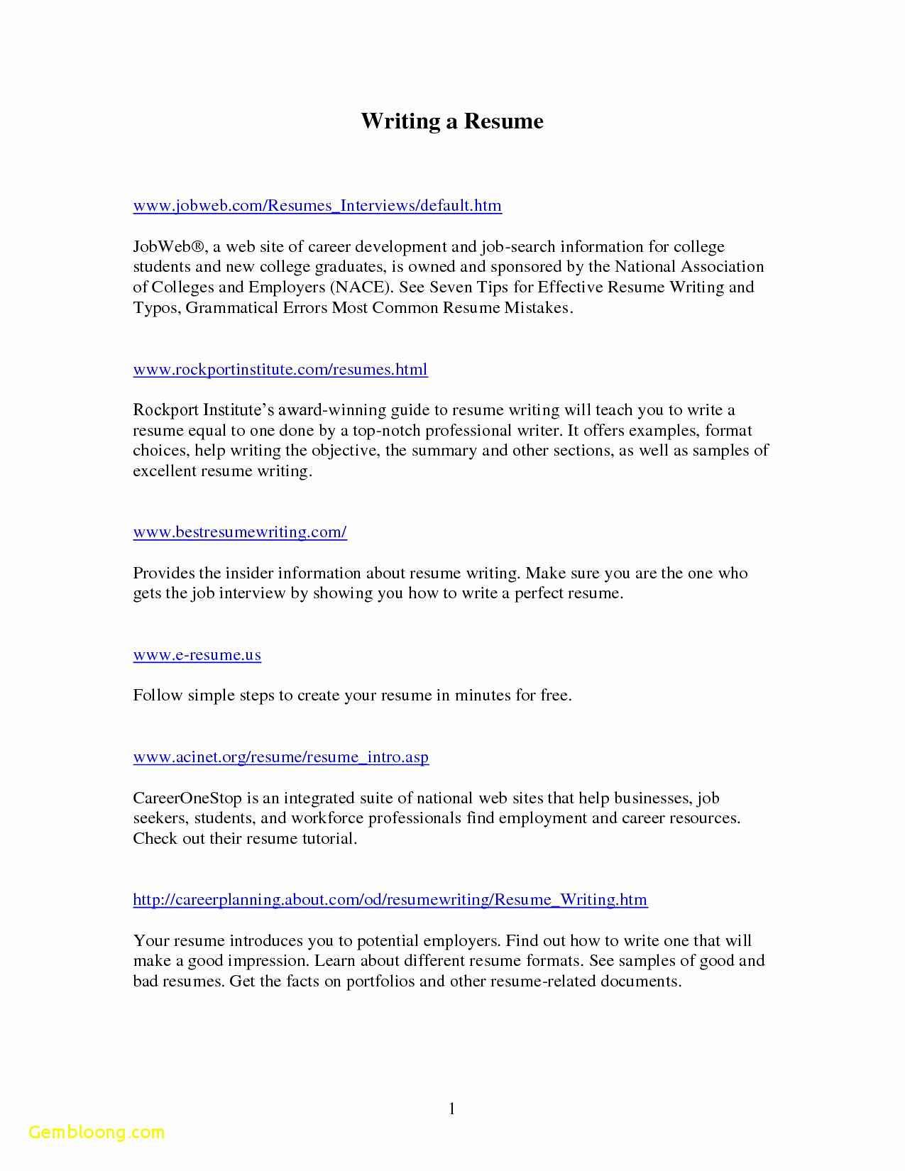 Gwu Resume Template - New Resume Templates 2017 Inspirational A Simple Resume format