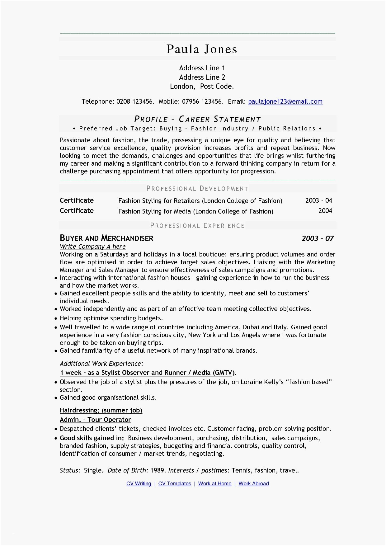 Hair Stylist Resume - Pay Lovely Resume for A Hair Stylist Beautiful Resume for