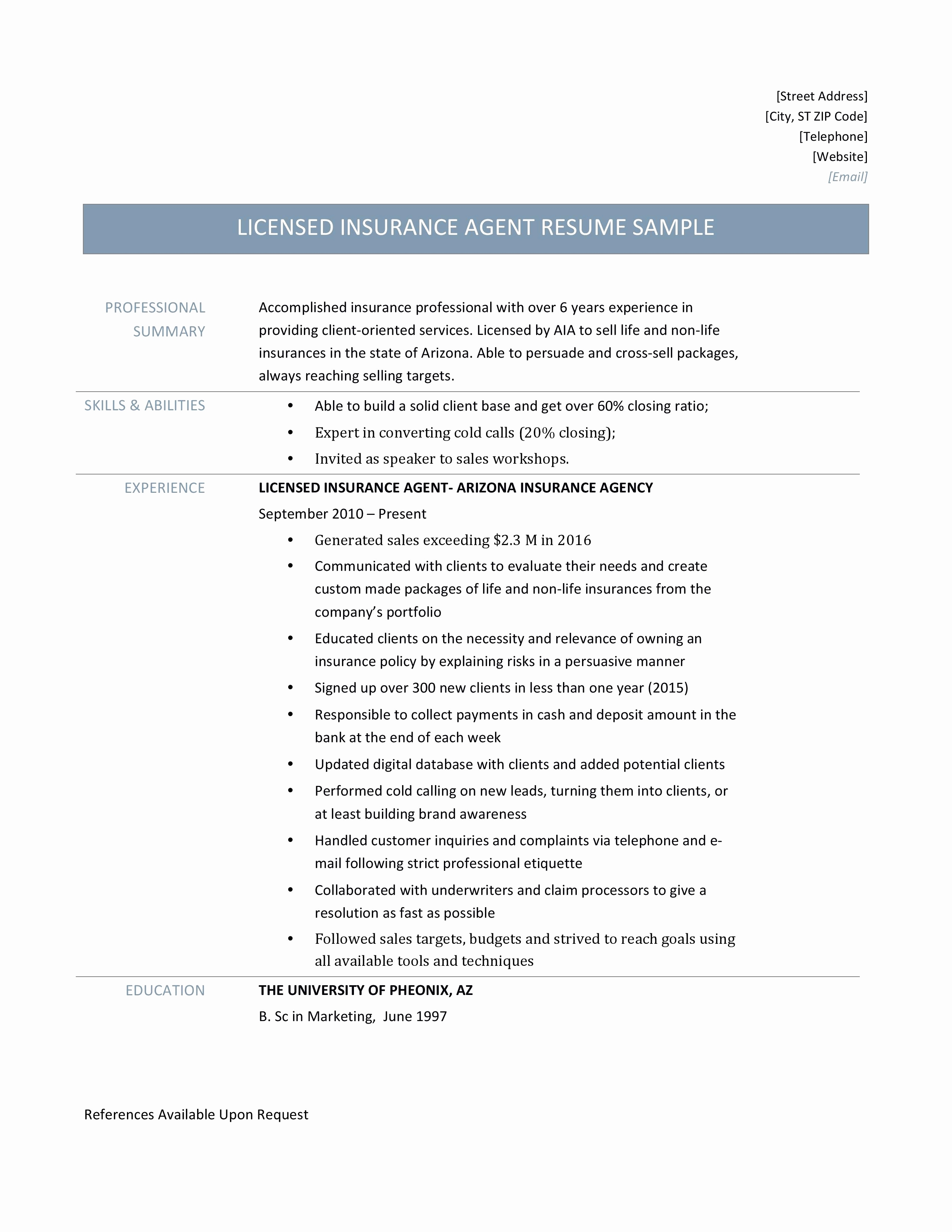 Health Insurance Agent Resume - Life Insurance Policy Template Awesome How to Write A Letter to