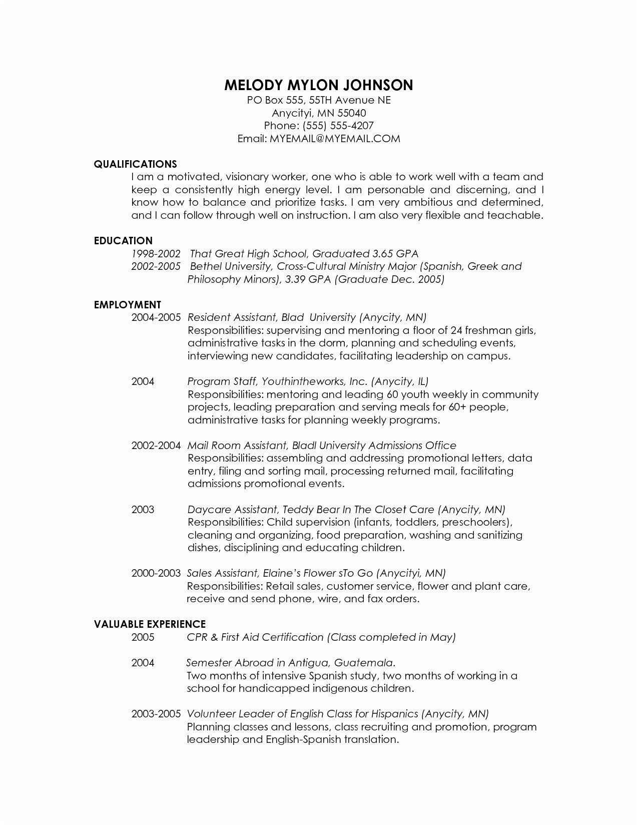 High School Scholarship Resume Template - Scholarship Resume Examples