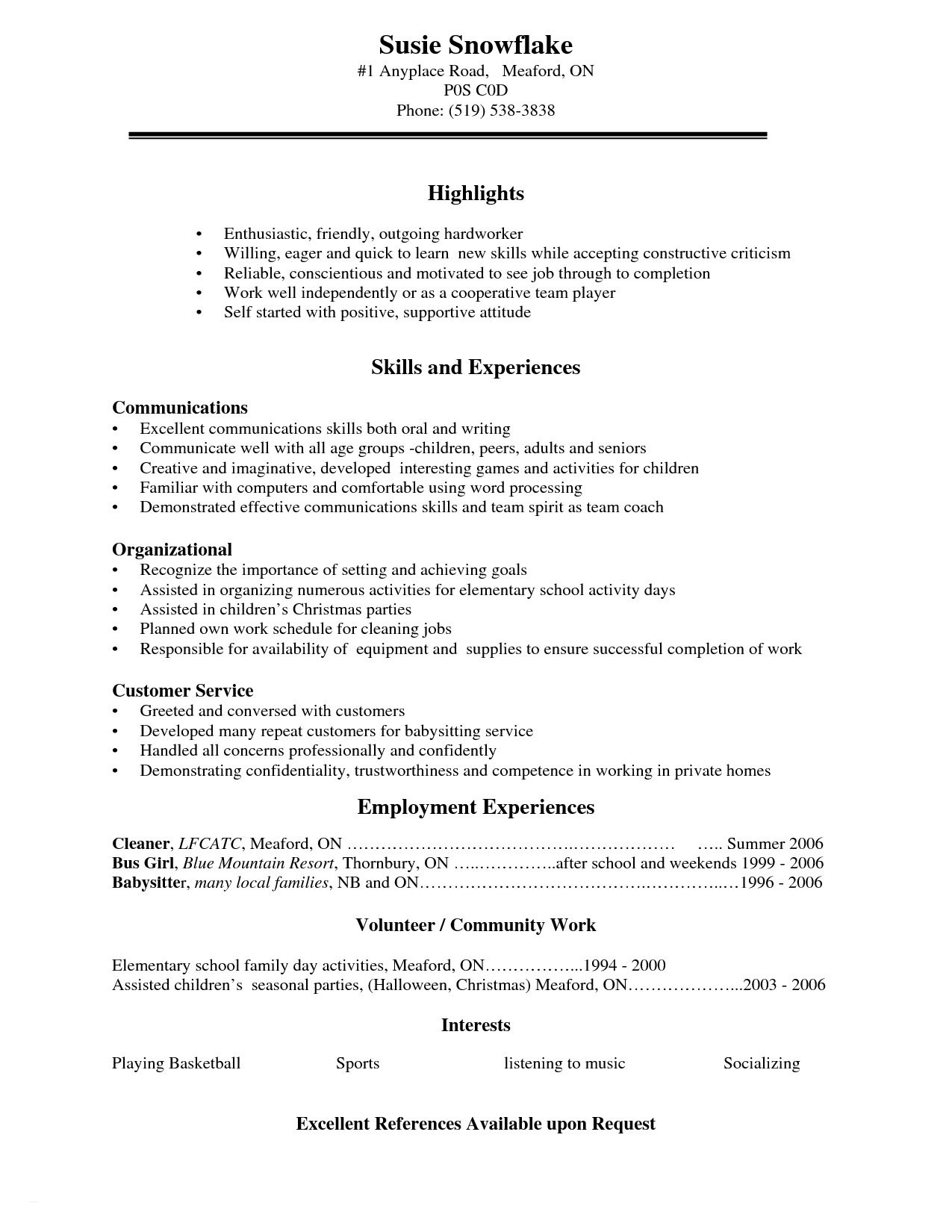 High School Students Resume - Resume for High School Student Elegant What Makes A Good Resume
