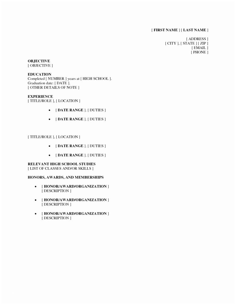 High School Students Resume - Sample Resume format for High School Students