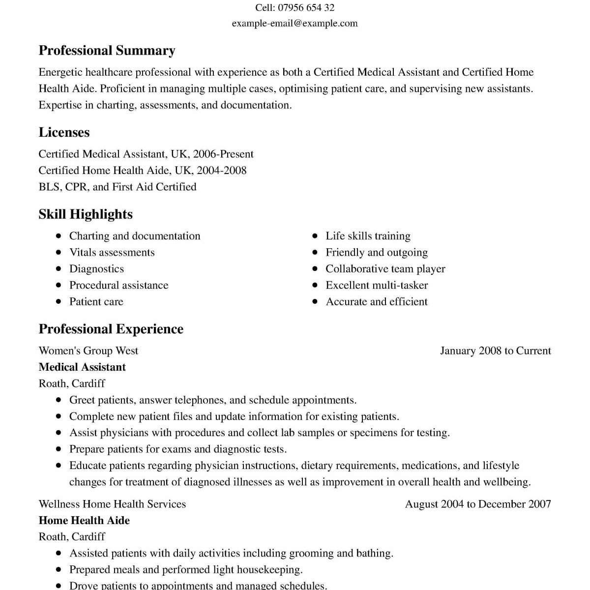Home Health Aide Skills Resume - Resume Medical assistant Examples Charming Fresh Examples Resumes