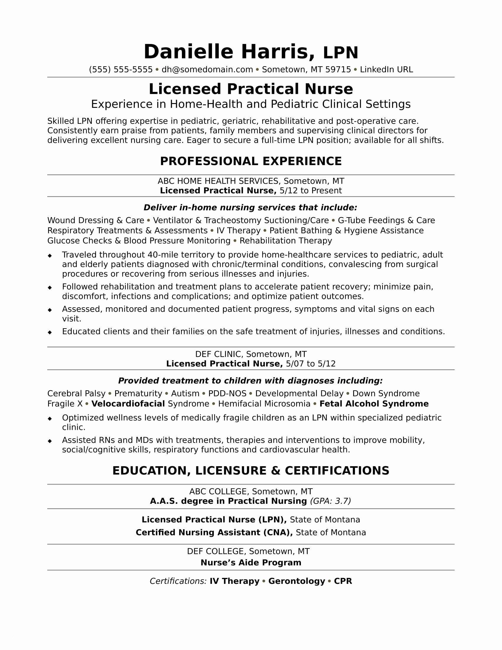 Home Health Nurse Resume - Sample Resume for A New Registered Nurse Resume Resume Examples
