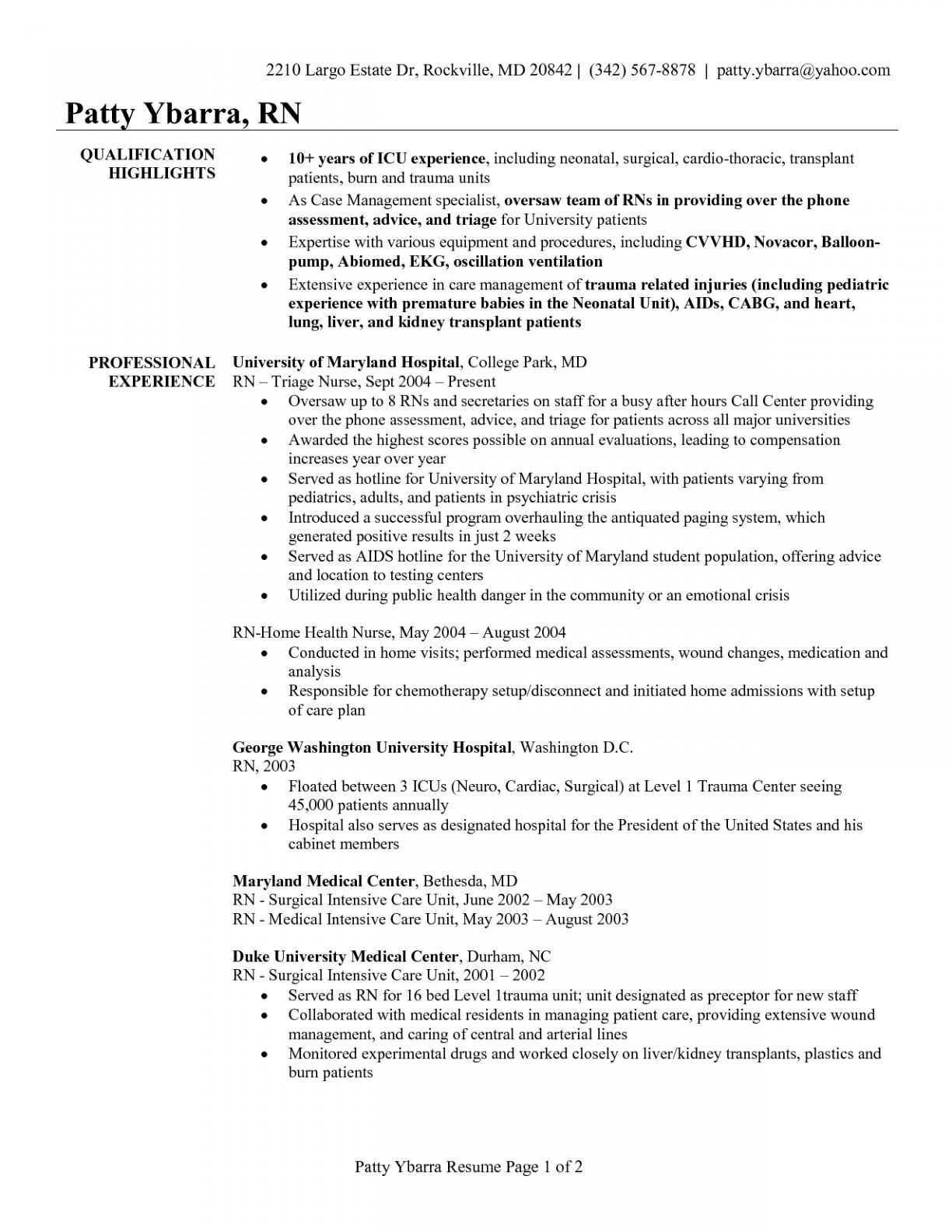Home Health Nurse Resume - Telemetry Nurse Resume