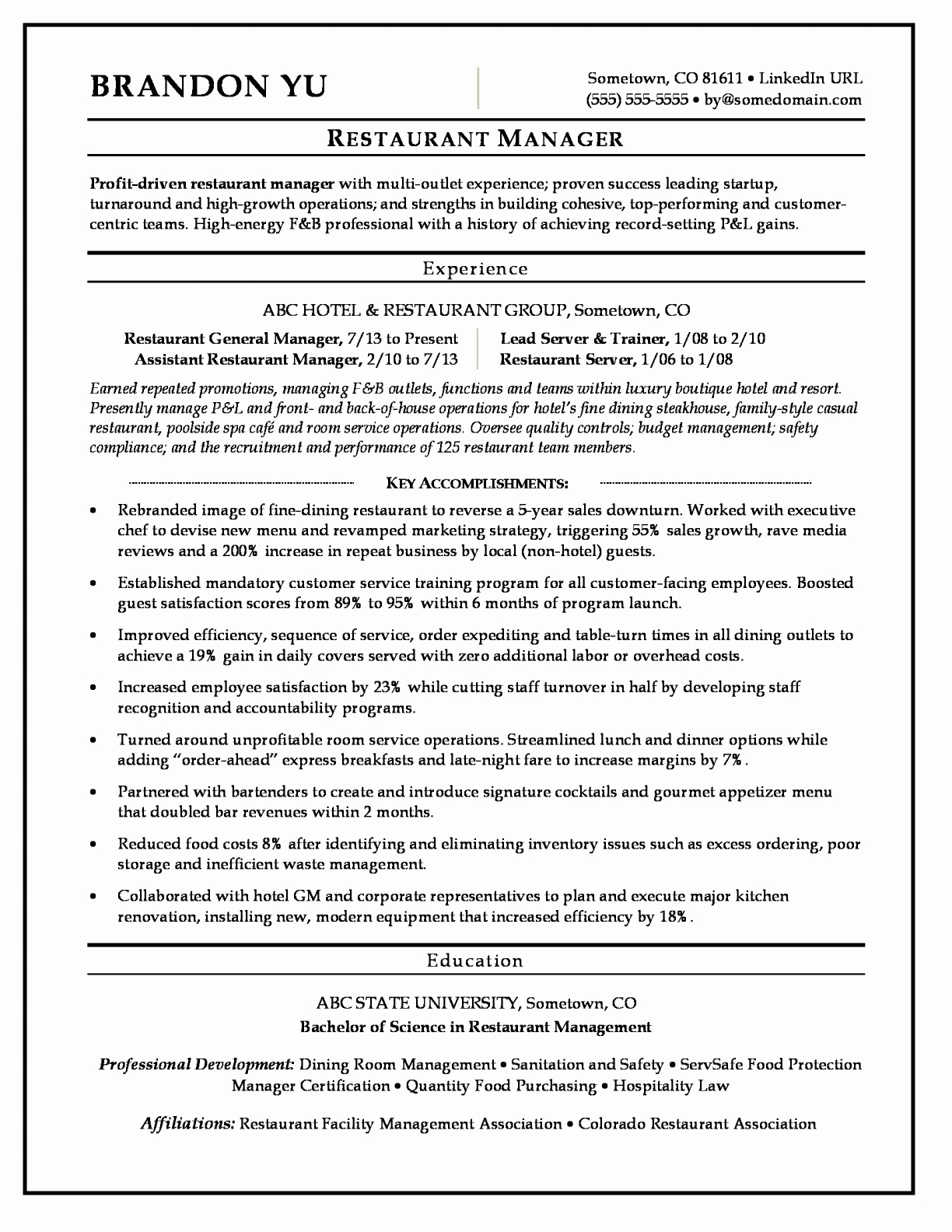 Hospitality Sample Resume - Safety Quotes for the Workplace Luxury Lovely Grapher Resume Sample