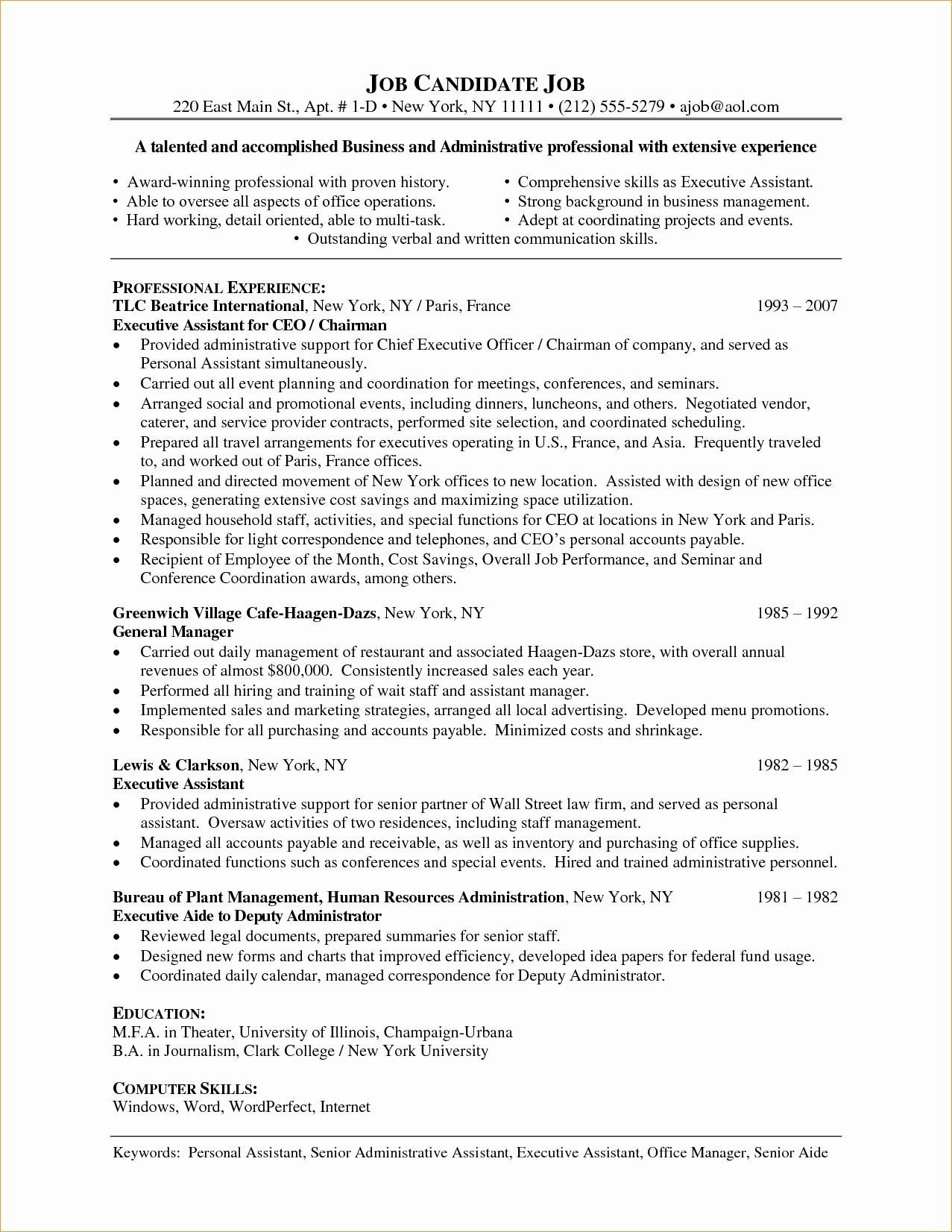 Hr Coordinator Resume - Sample Human Resources Manager Resume Luxury Hr Coordinator Resume