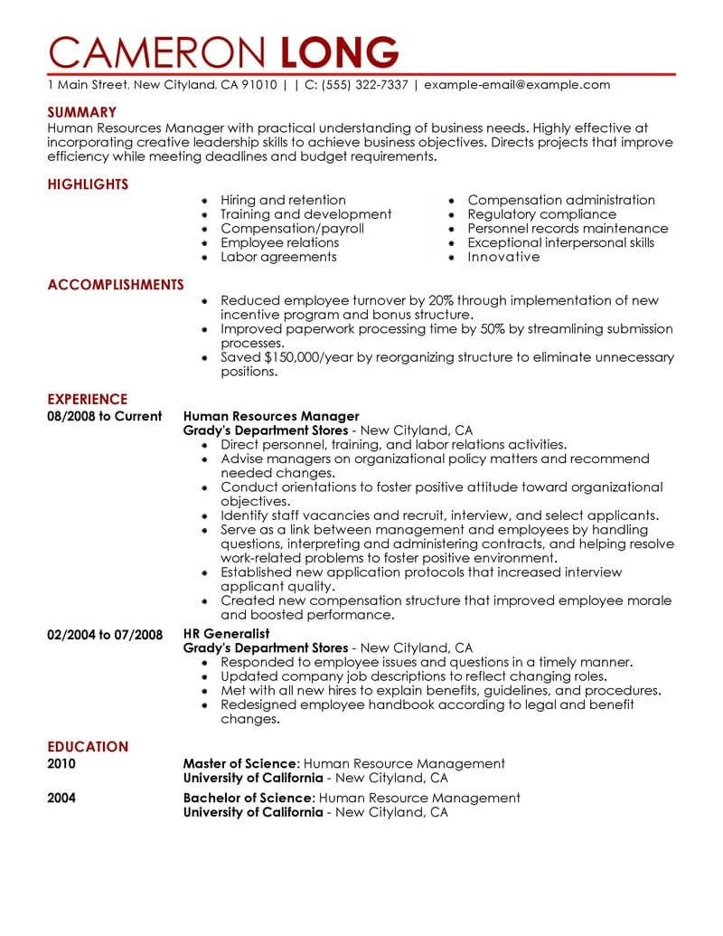 Hr Coordinator Resume - Hr Generalist Resume Best Human Resources Resume Example Awesome