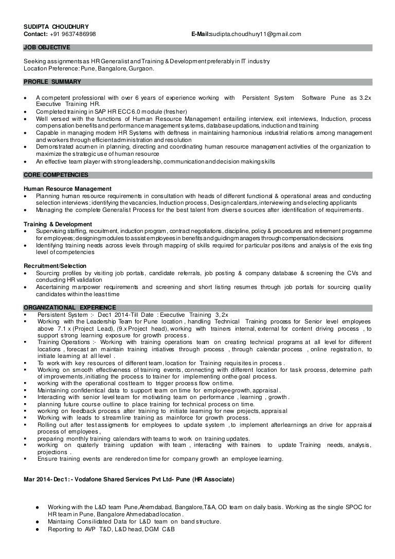 Hr Generalist Resume - Human Resource Generalist Resume Lovely Examples Hr Resumes