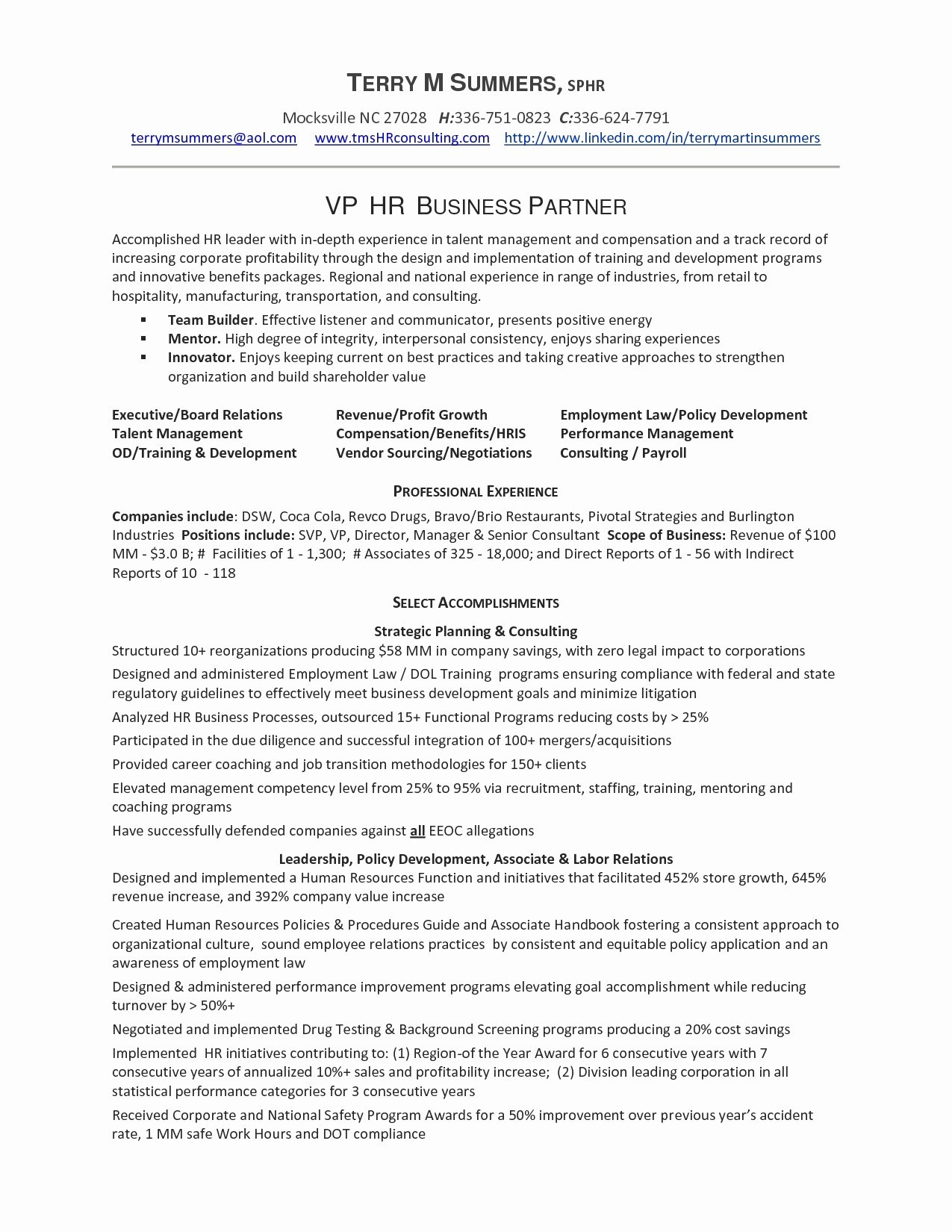 Hr Generalist Resume Template - Sample Hr Resumes New Hr Manager Resume Inspirational Hr Resume