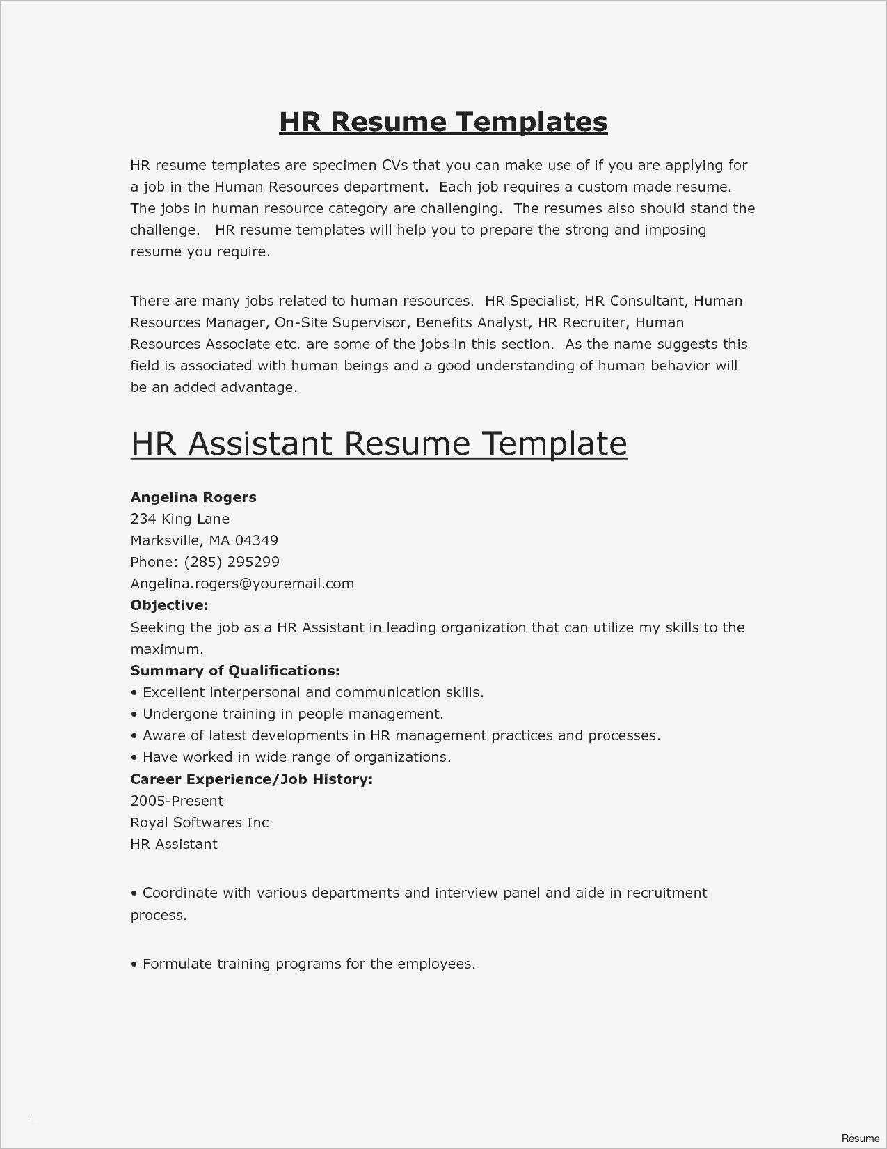 Hr Recruiter Resume - 40 Fresh Recruitment Template