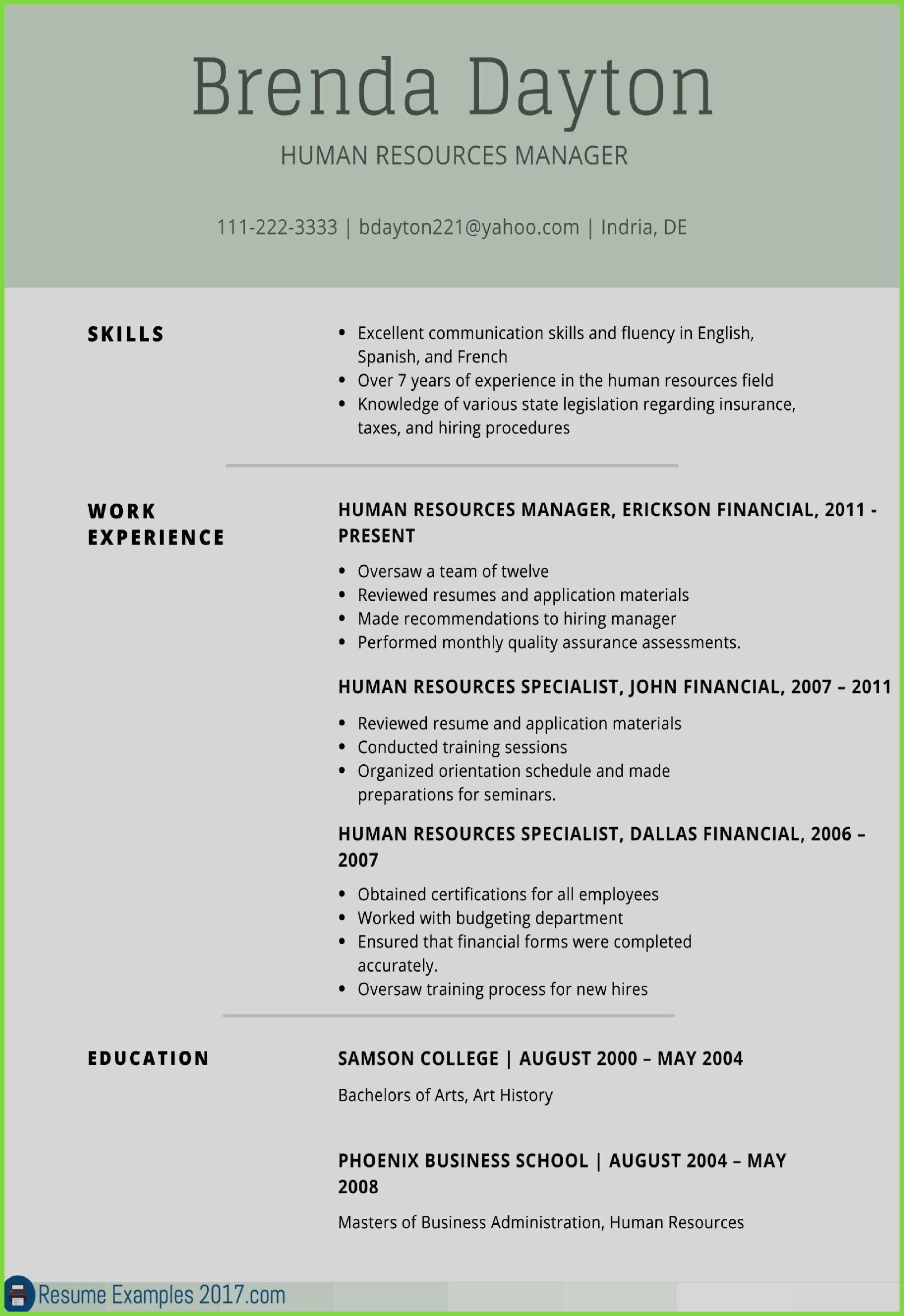 Hr Resume Template - Hr Resume Template 21 Hr Resume Sample Occupylondonsos