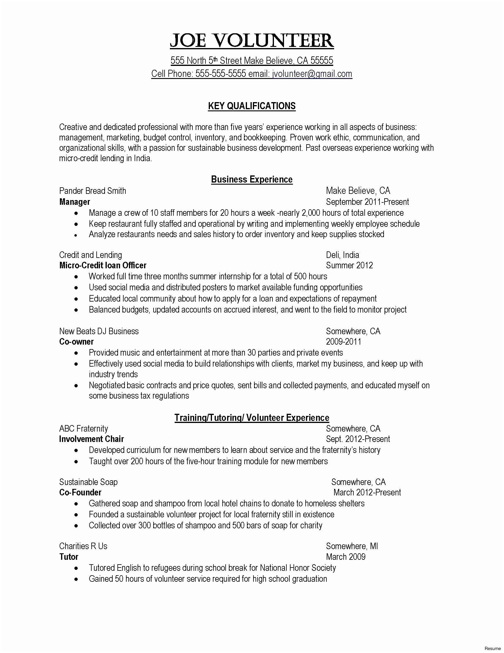 Hr Skills for Resume - Sample Hr Generalist Resume