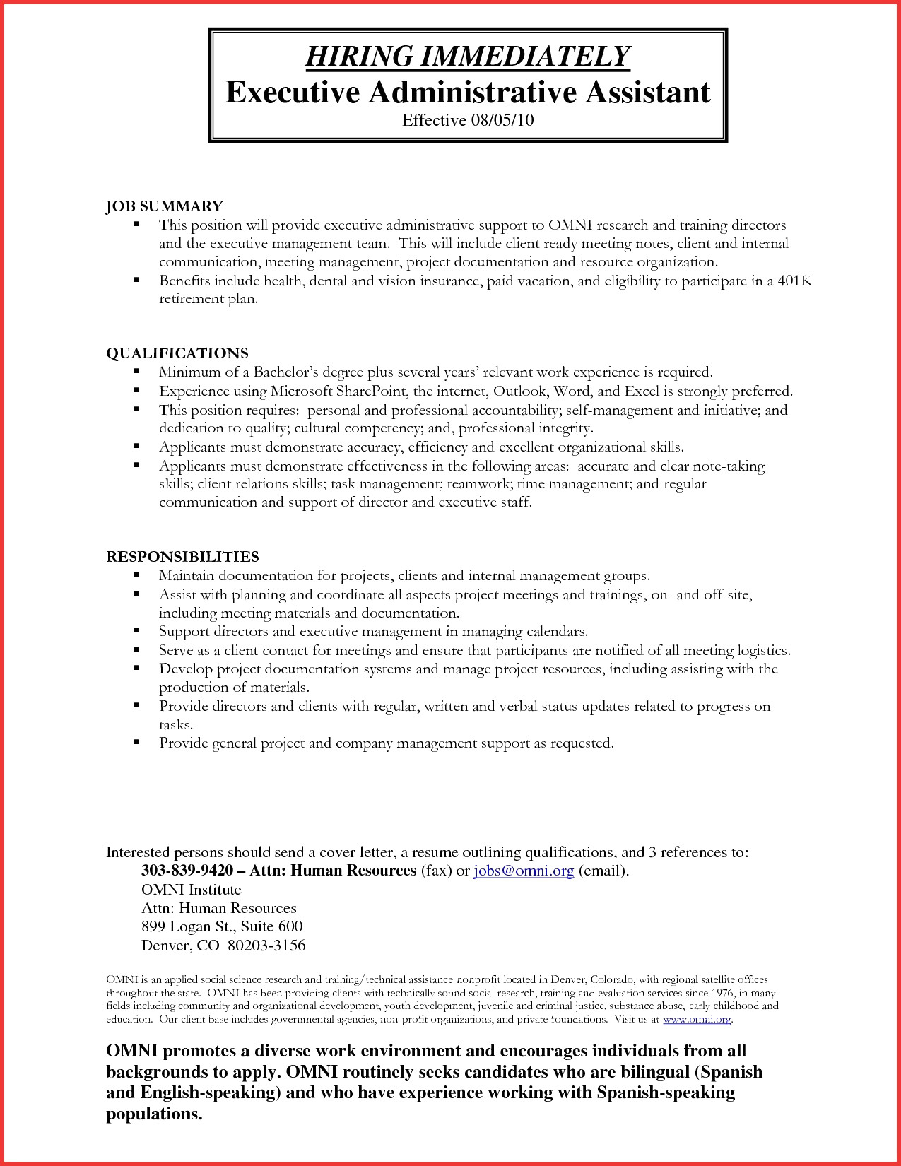 Human Resource Resume Template - 41 Design Summary A Resume