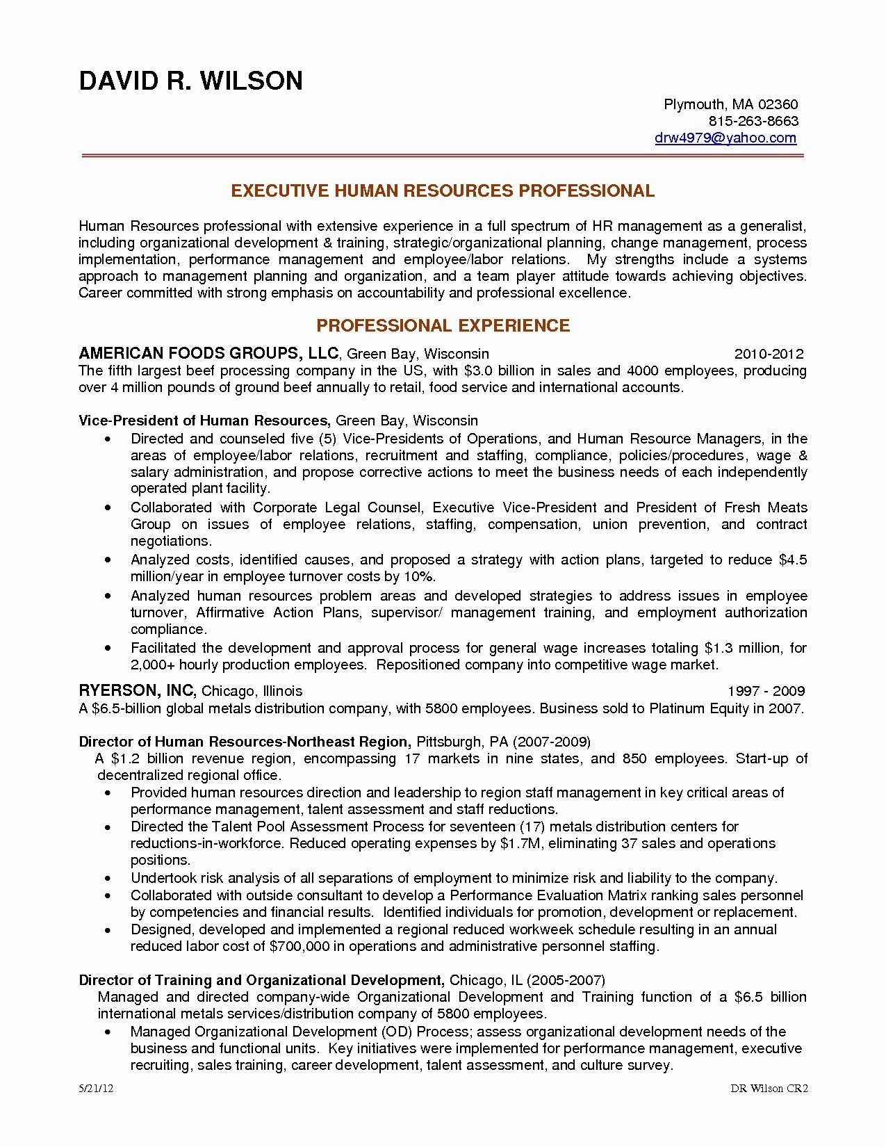 Human Resources assistant Resume - 21 Human Resources Resume