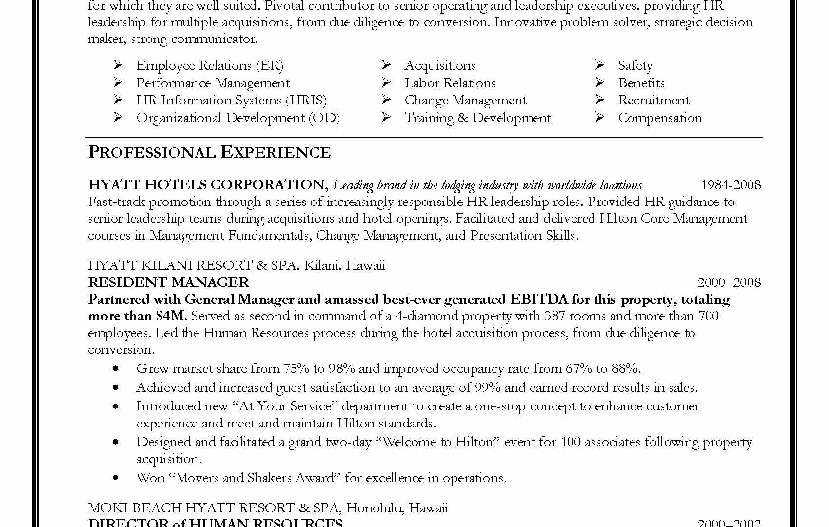 Human Resources Manager Resume - Human Resource Manager Resume Elegant Hr Resume Examples Manqal