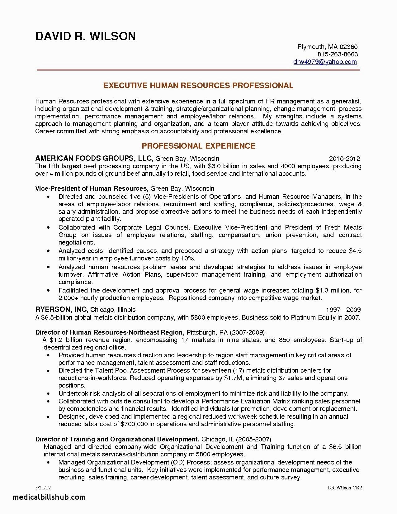 Human Resources Resume Summary - Executive Resume Luxury top Resume Summary Examples It Project