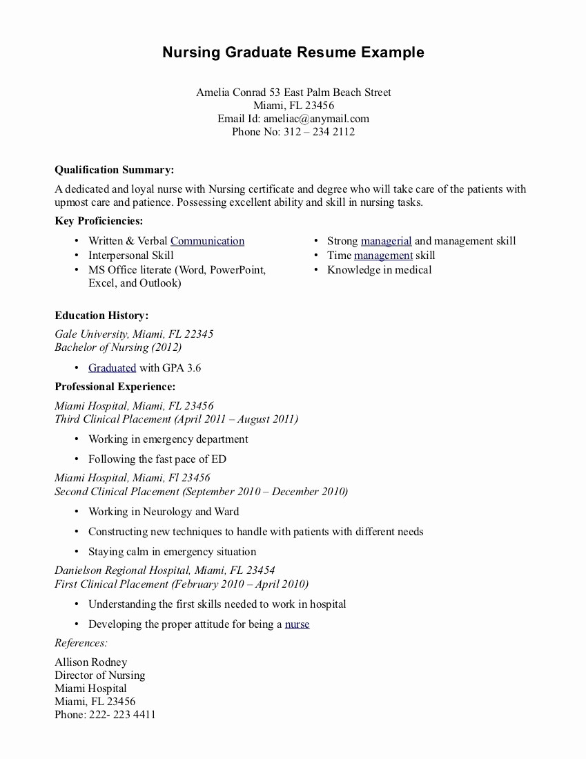 Icu Nurse Resume Template - Fresh Critical Care Nurse Resume New Resume format Professional