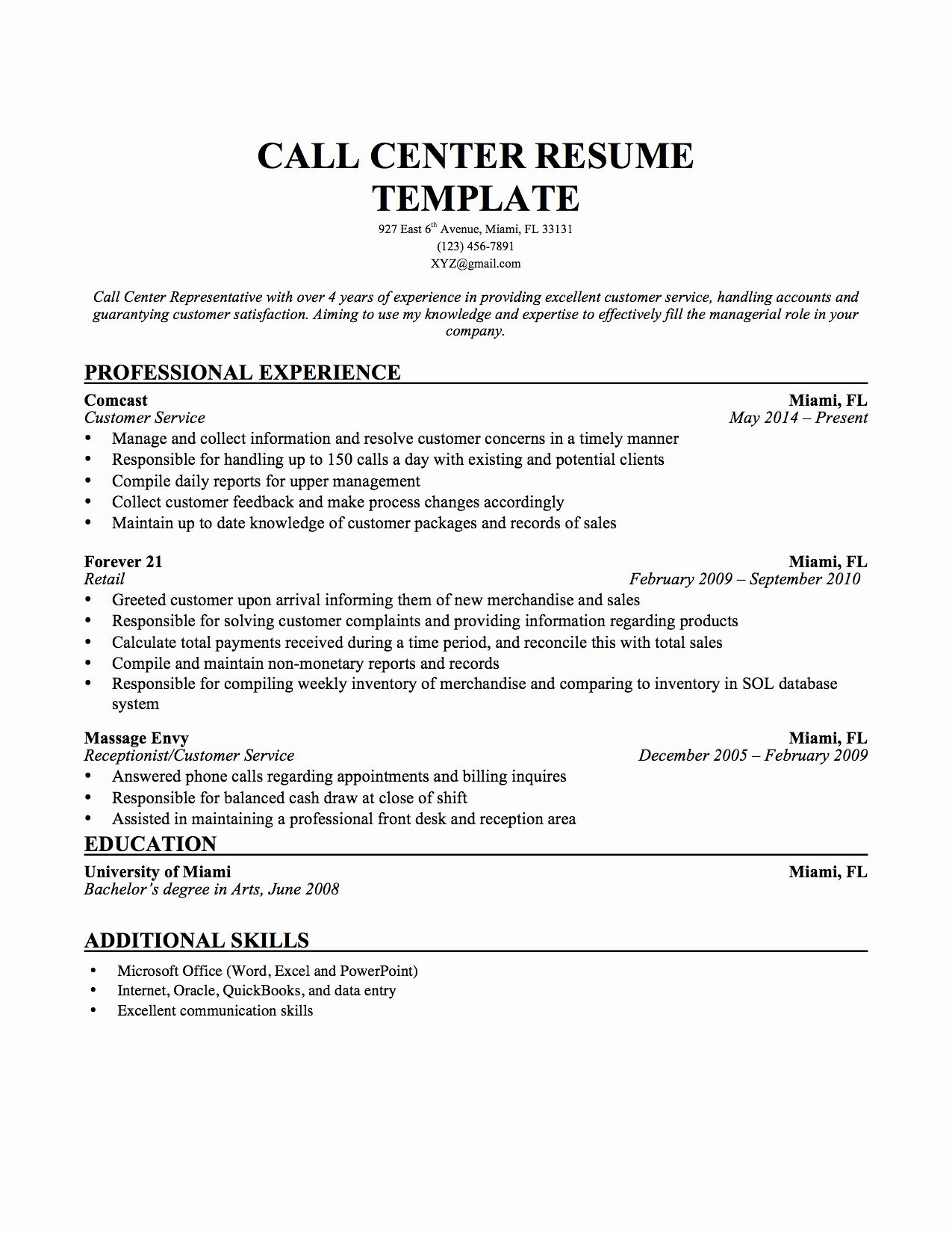 Inbound Call Center Job Description for Resume - Job Description Call Center Best Call Center Resume Skills Best