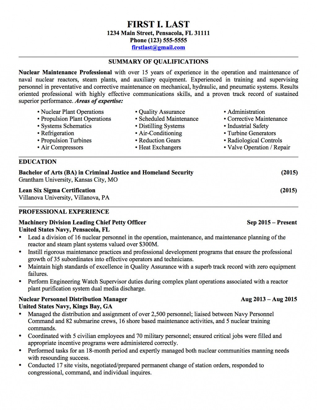 Infantryman Skills Resume - 20 Awesome Military to Civilian Resume Examples