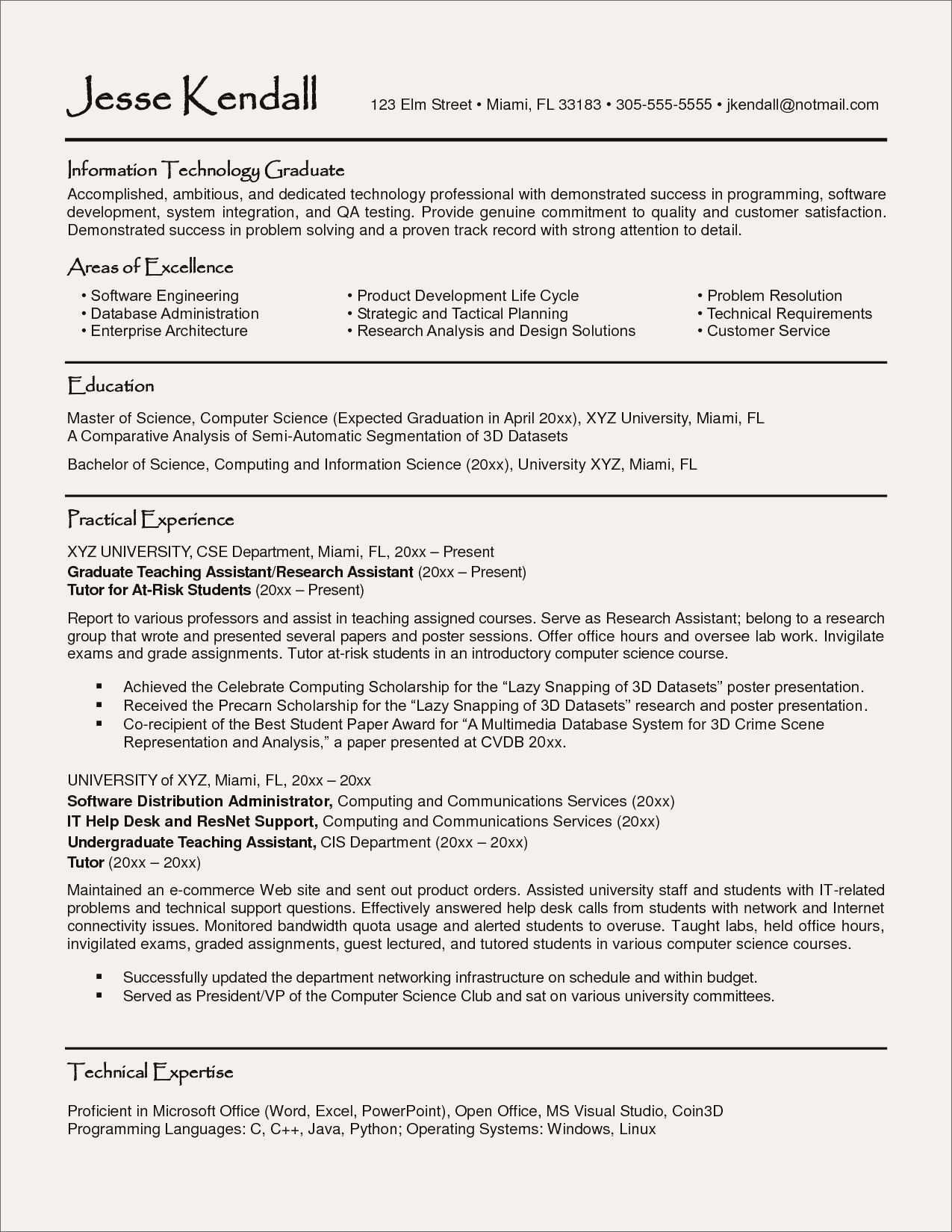 Information Technology Resume Template Word - Resume for Science Tutor Best Resume topics Best ¢‹†…¡ Resume