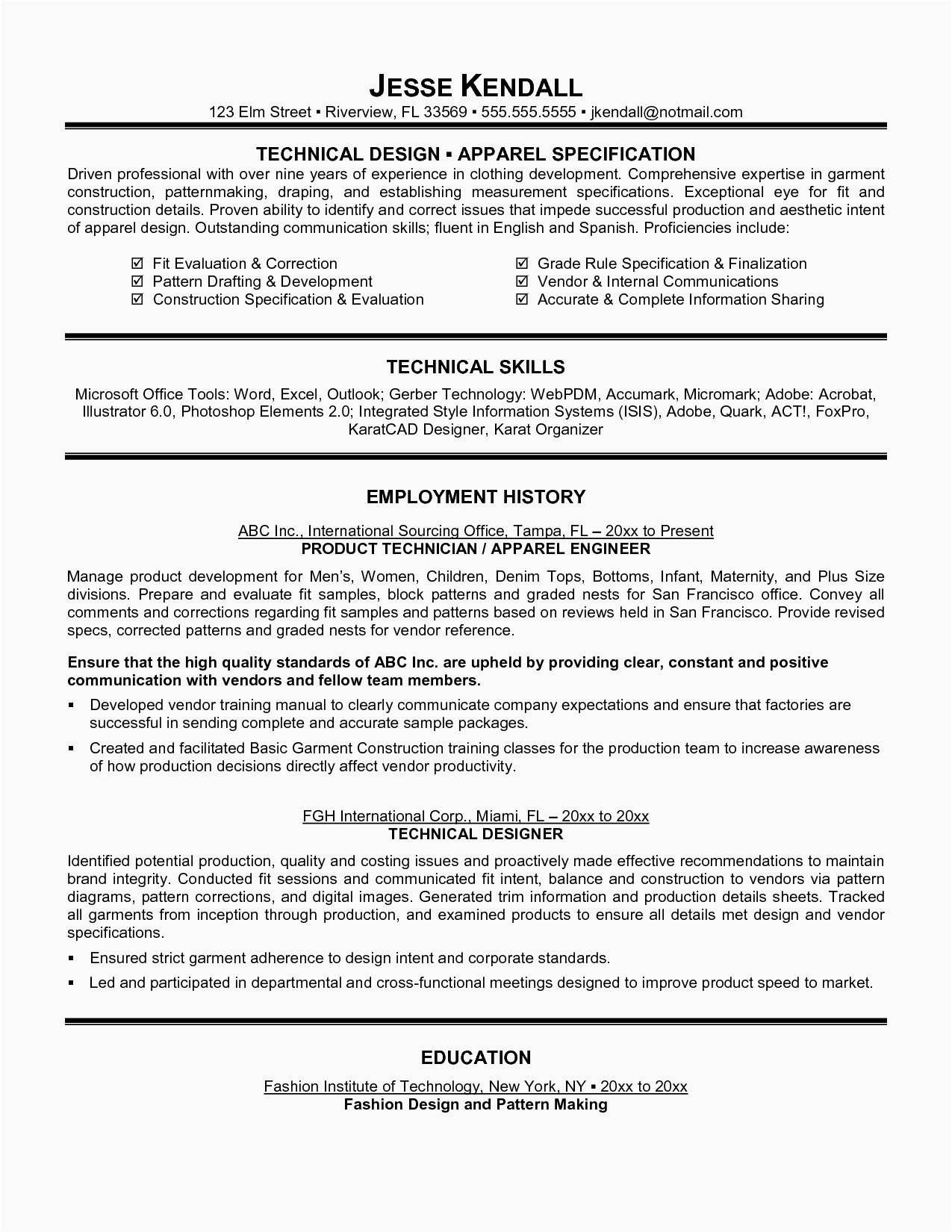 Information Technology Resume Template Word - 30 Resume Template Microsoft Examples