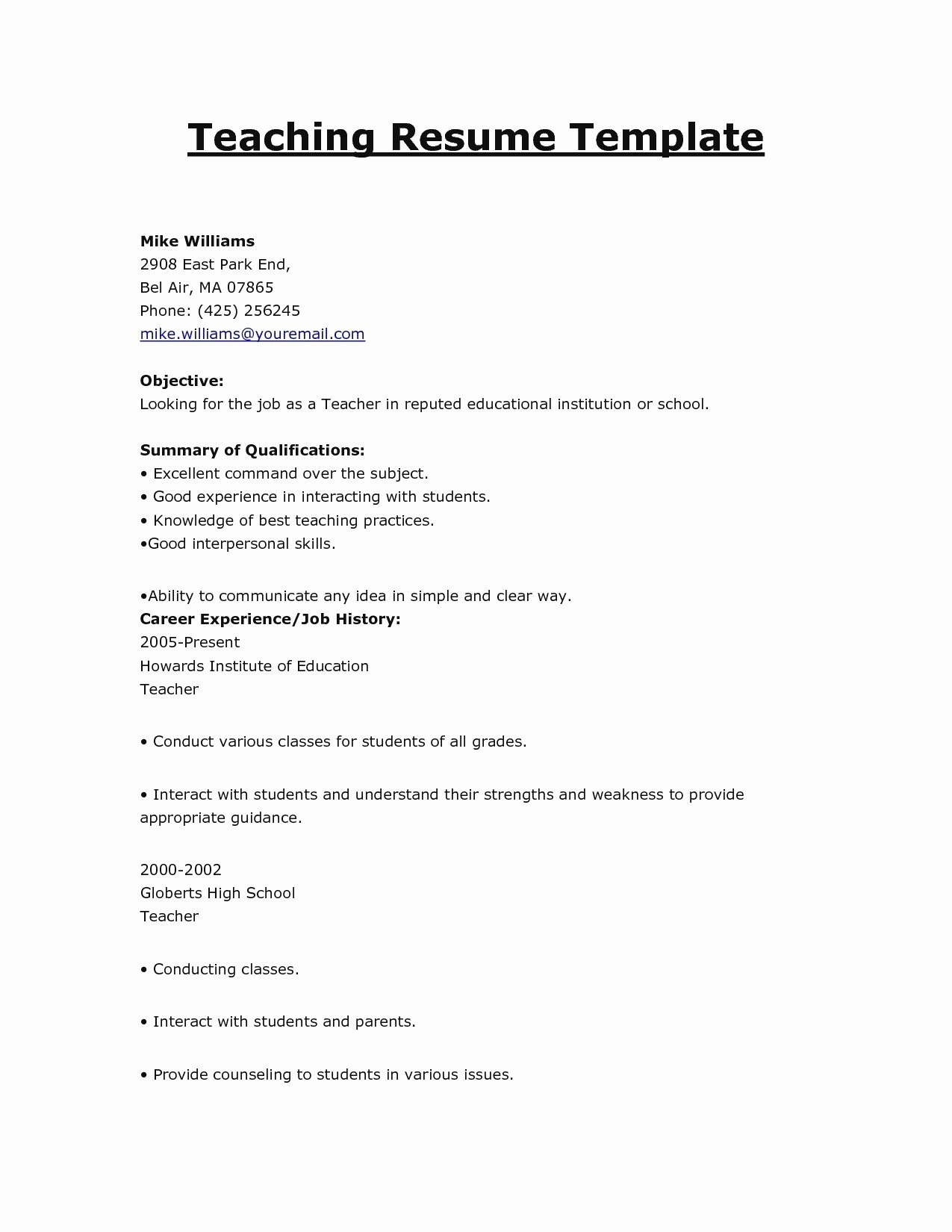 Inroads Resume Template - Quick Resume Builder Free Lovely Lindatellingtonjones Resume formats