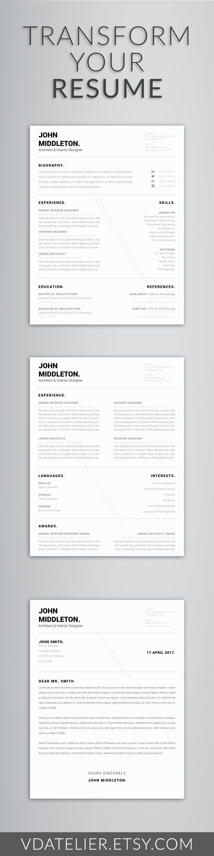 Interior Design Resume Template - Interior Design Resumes Best Resume Samples Doc – Template Free