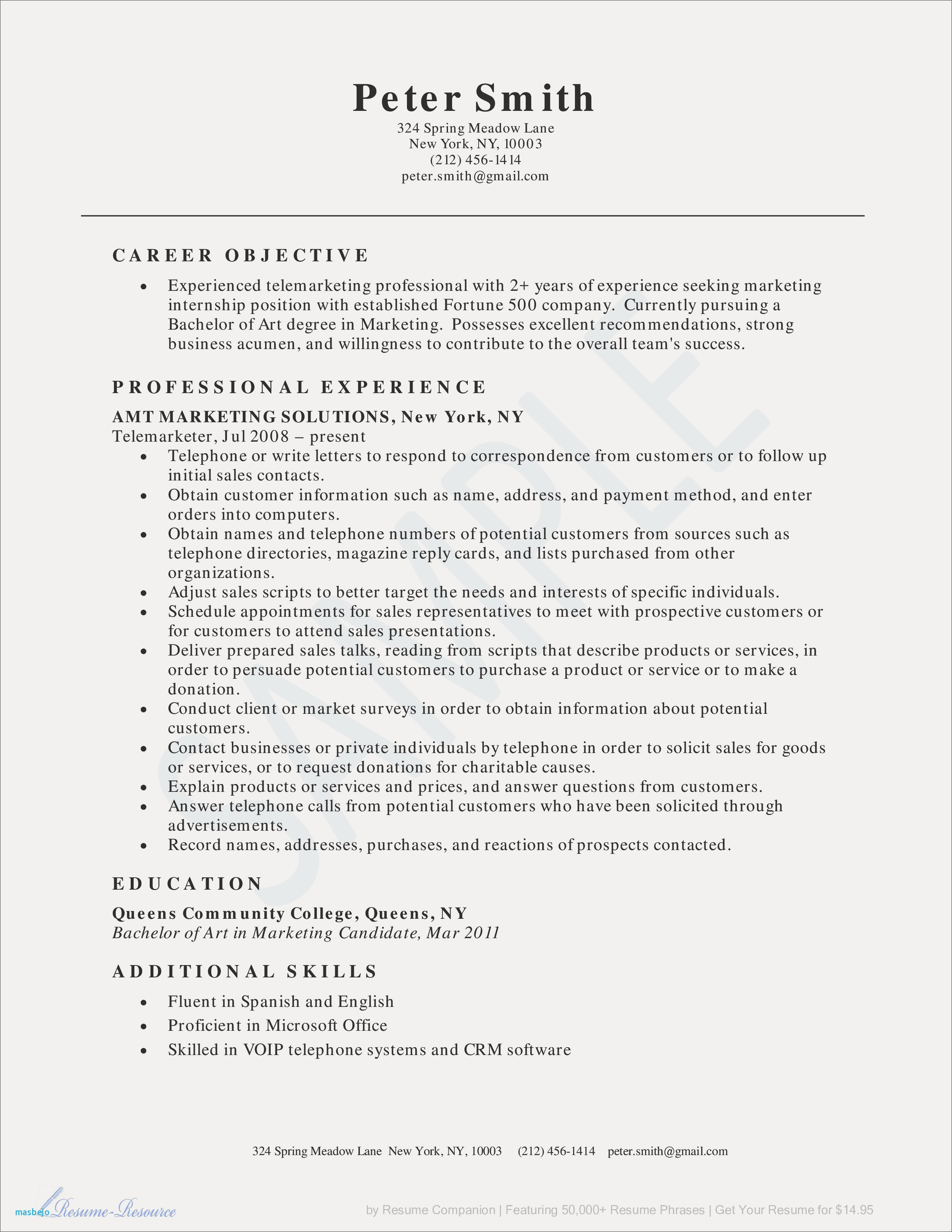 Internal Position Resume Examples - Microsoft Fice Sample Resume New Sales Resume Awesome How Can I Do