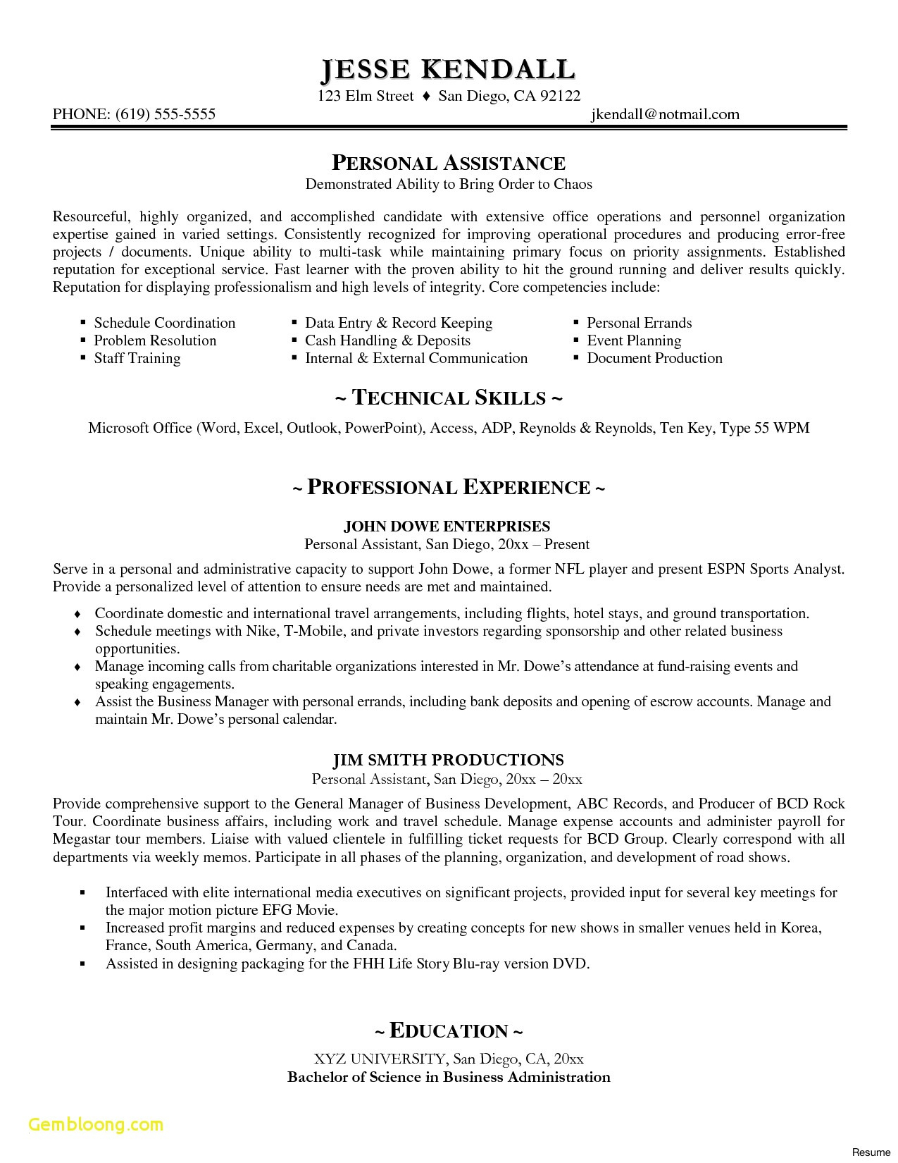 Internal Resume Sample - Personal assistant Resume Sample New Resume Samples Doc New