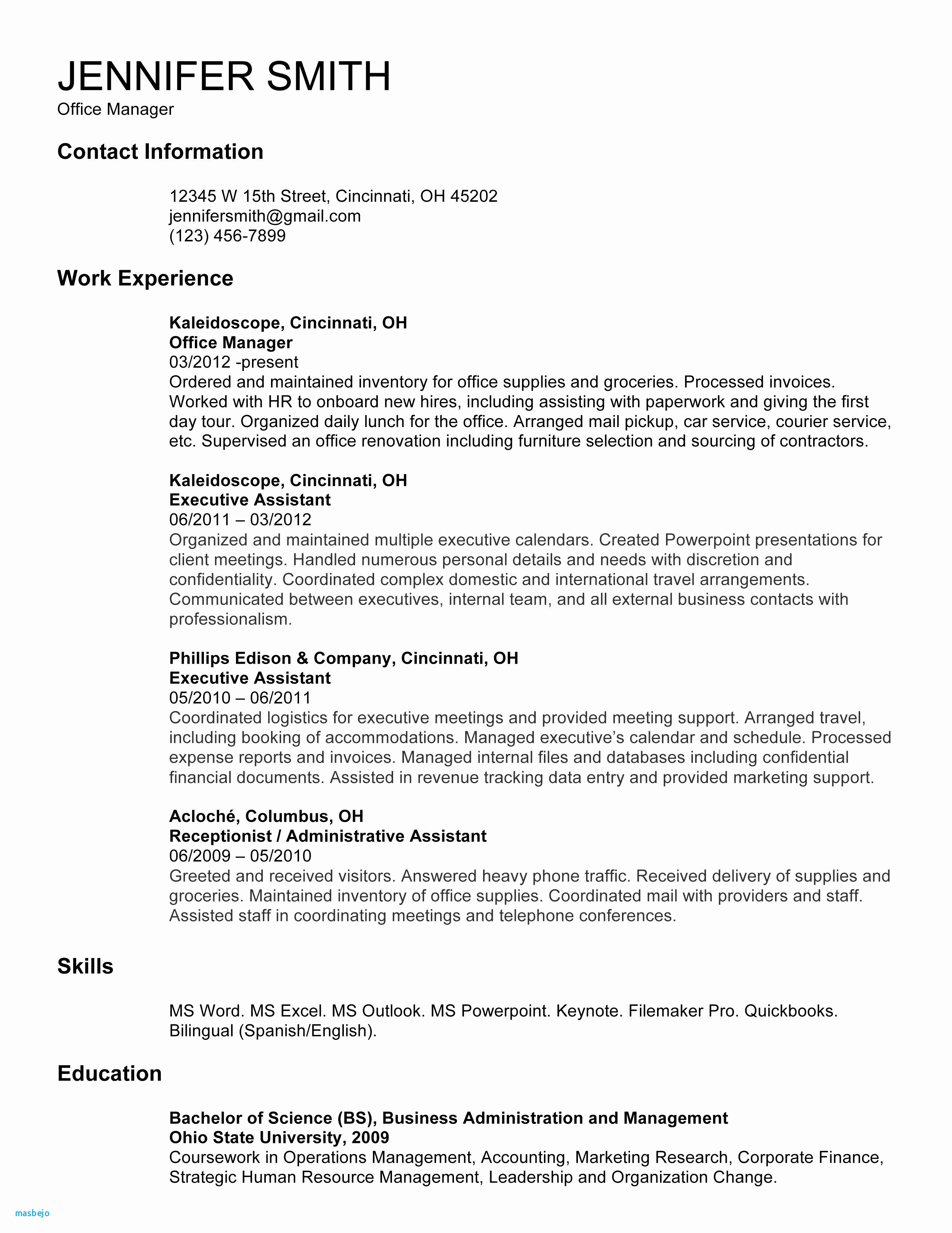Internship Resume Sample for College Students - Internship Resume Example Intern Resume Sample Lovely College Resume