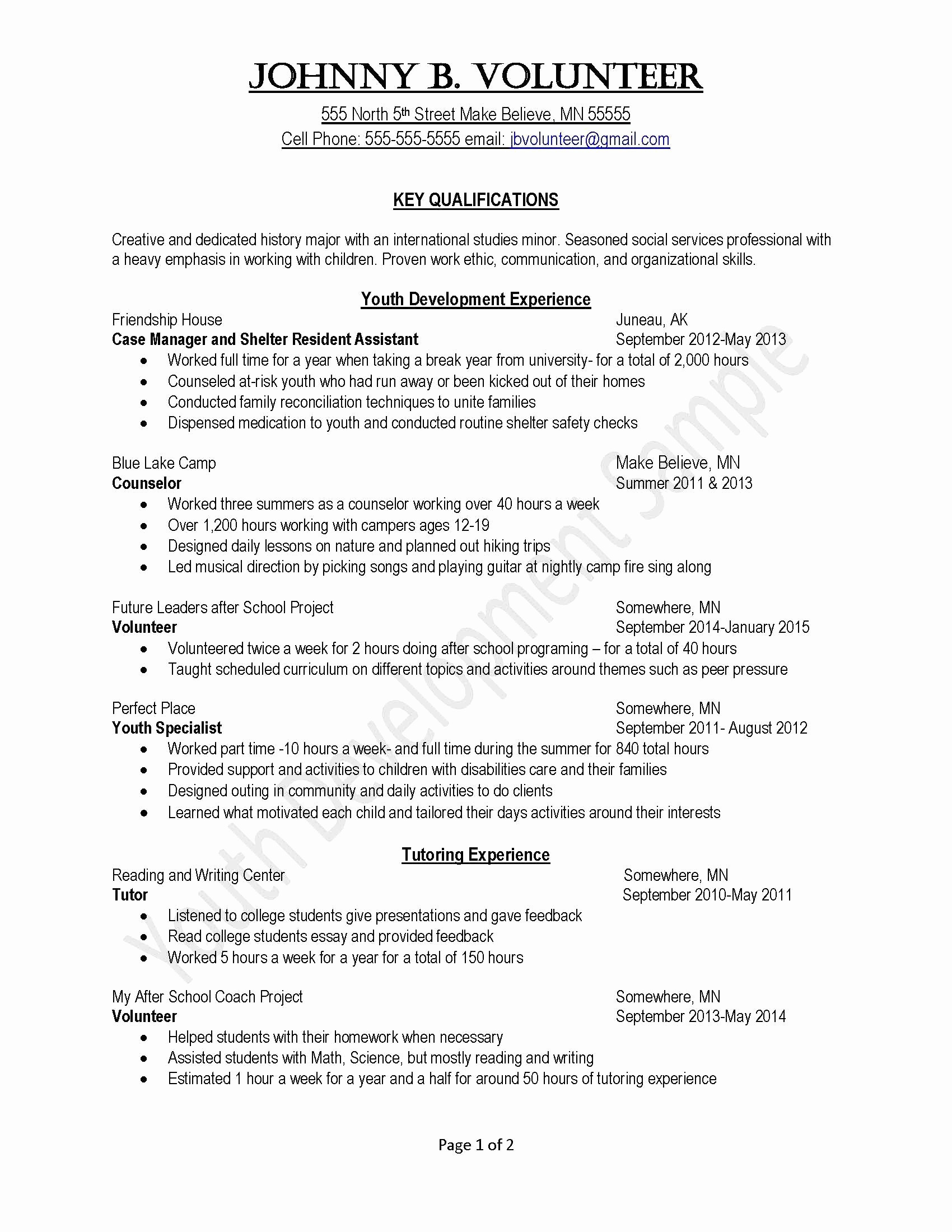Internship Resume Sample for College Students - Sample Resume for College Student Applying for Internship – Fresh