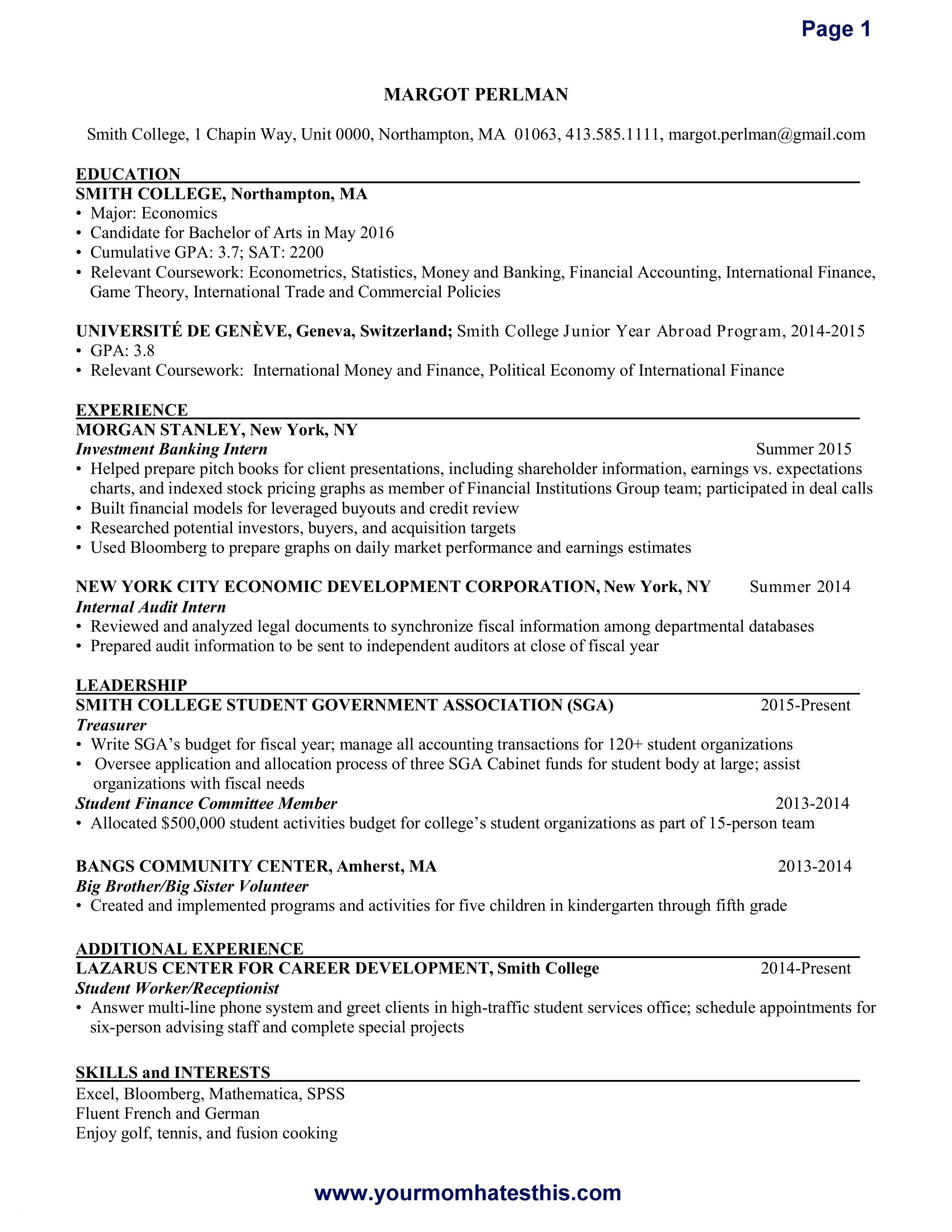 Internship Resume Template Microsoft Word - Resume for Internship Lovely Luxury Grapher Resume Sample Beautiful