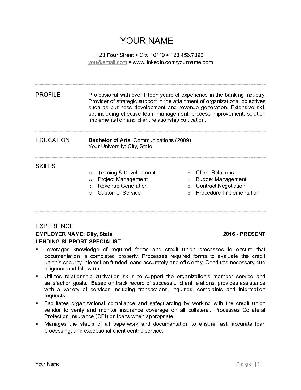 Investment Banking Resume Example - Private Banker Resume