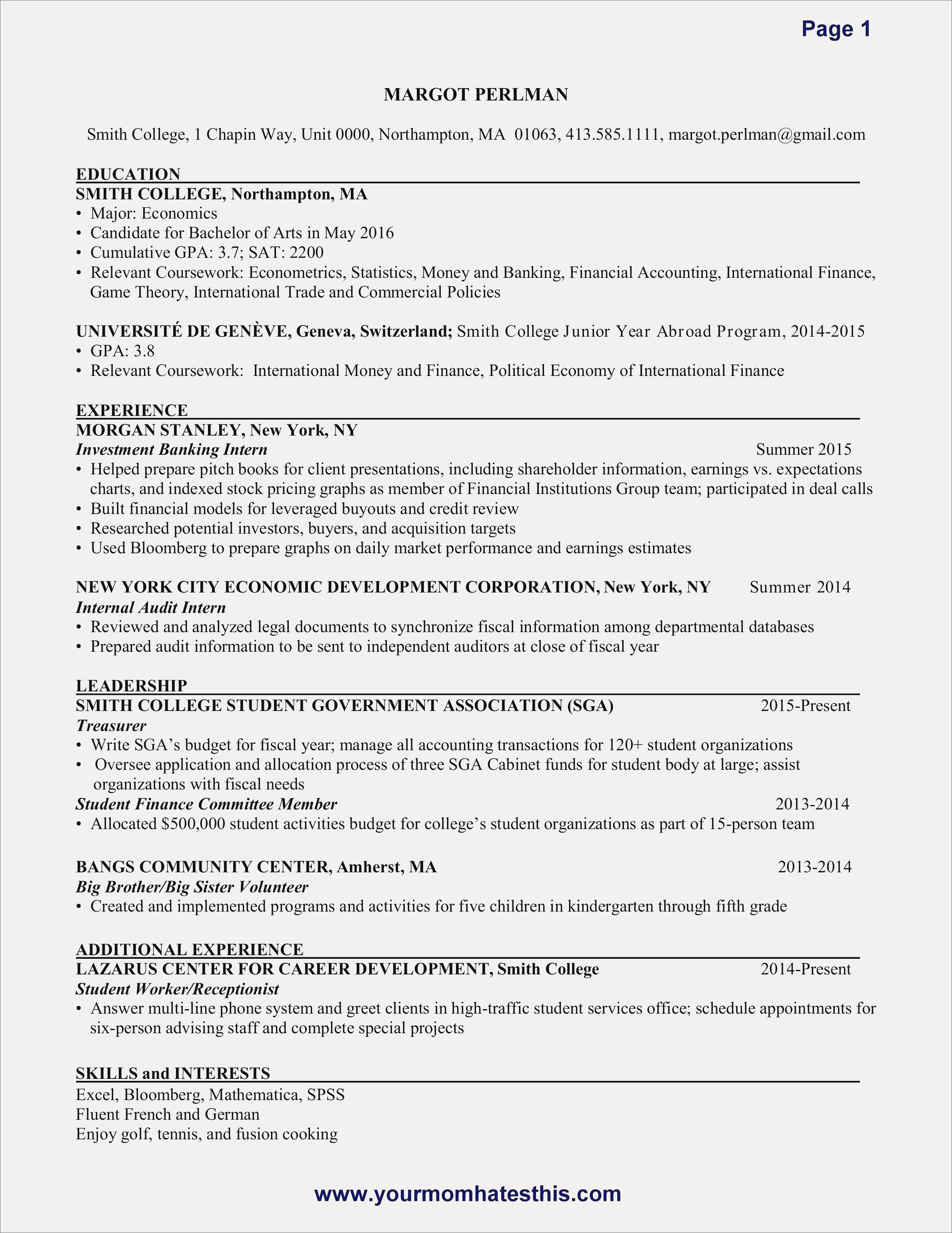 investment banking resume sample Collection-Sample Resume For Finance Save New New Resume Sample Best Resume Cover Luxury Formatted Resume 0d 19-o