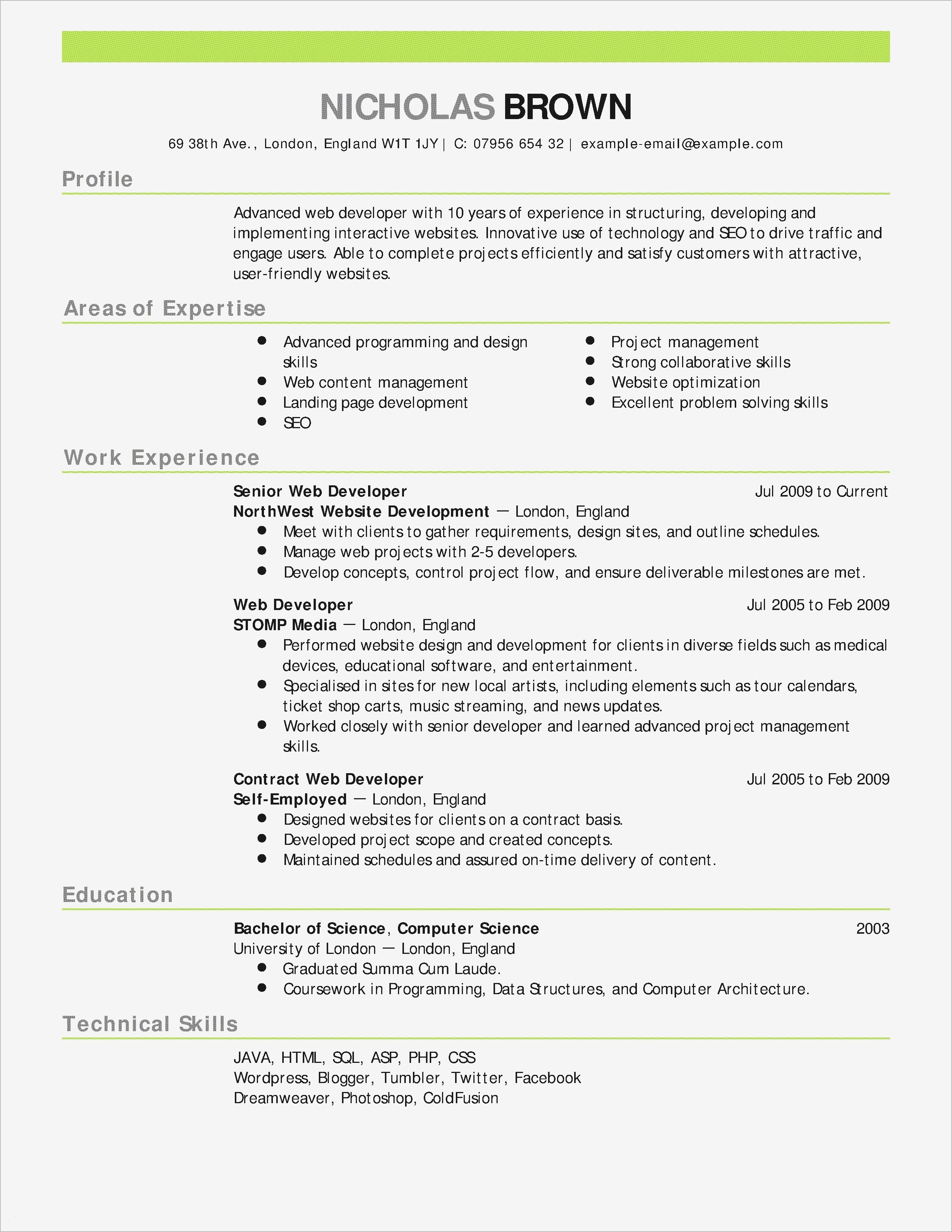 Is It Bad to Use A Resume Template - Bookkeeping Resume Samples New Bookkeeping Resume Sample New Fresh