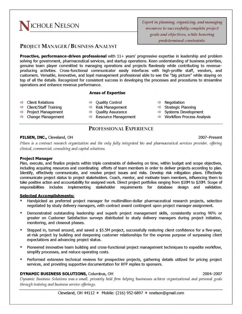 It Project Manager Resume - Restaurant Resume Sample Modest Examples 0d Good Looking It Manager