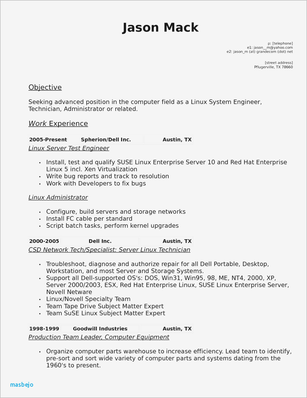 It Technician Resume - Pharmacy Tech Resume Pharmacy Tech Resume Template Fresh Obama