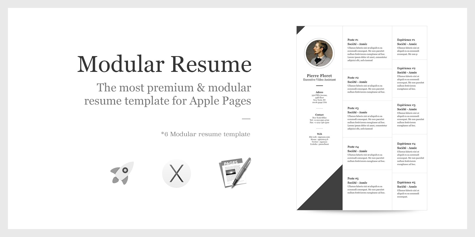 Iwork Resume Template - Apple Pages Resume Template New Apple Pages Resume Templates Cv