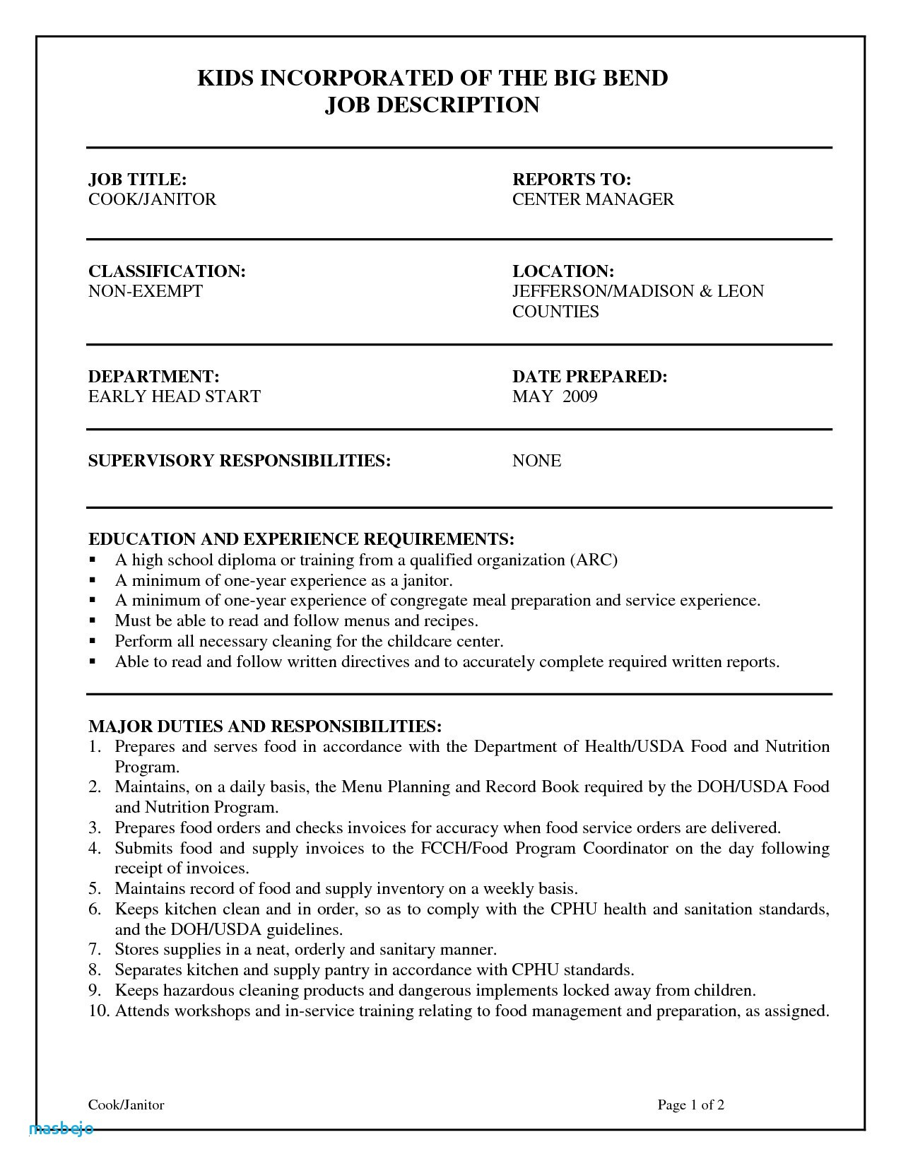 Janitor Resume Examples - Janitorial Resume Refrence Janitor Resume Custodian Resume Sample