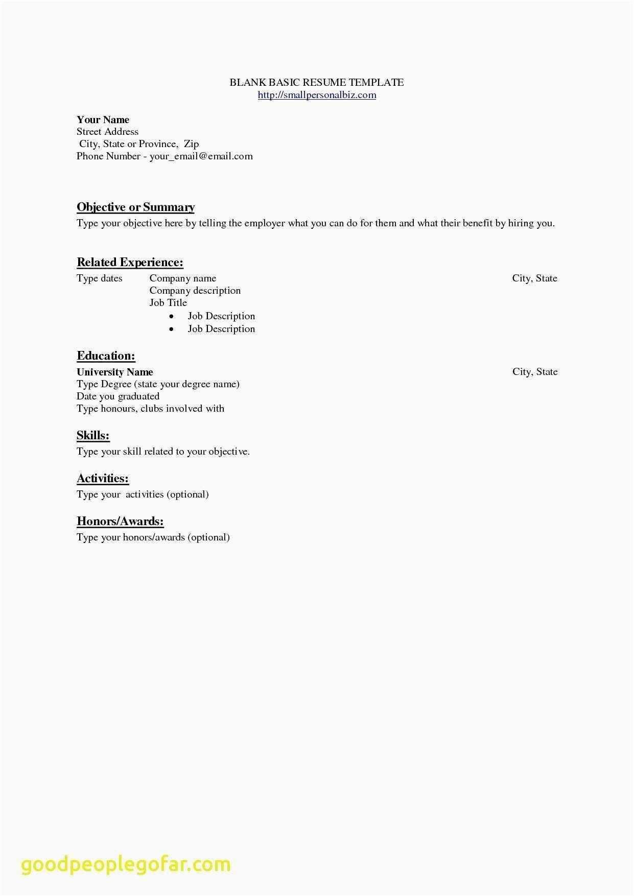 Job Objective for Resume - Resume Sample Objectives Lovely Should A Resume Be E Page Unique