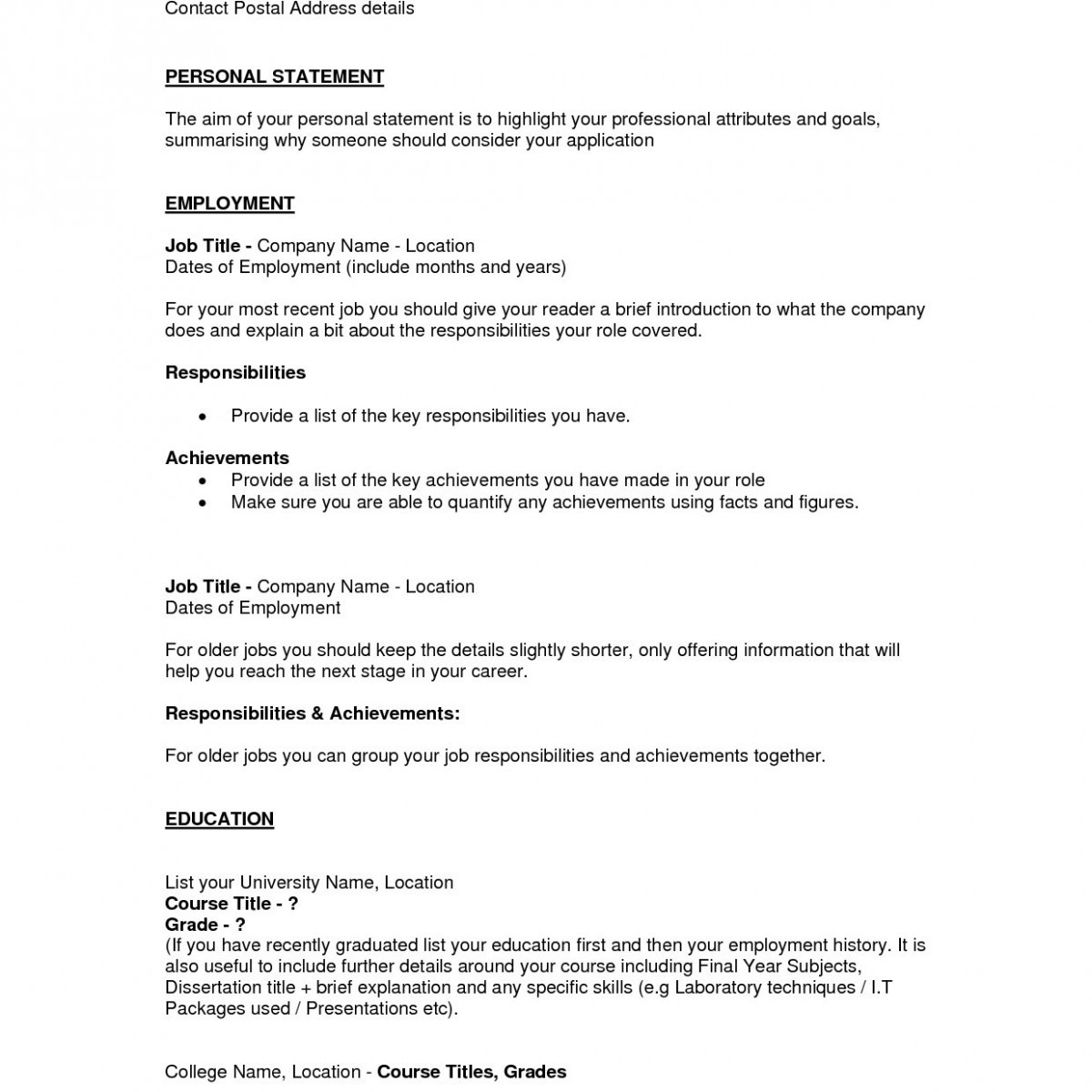 Job Title In Resume - 38 Luxury Example A Basic Resume C7b