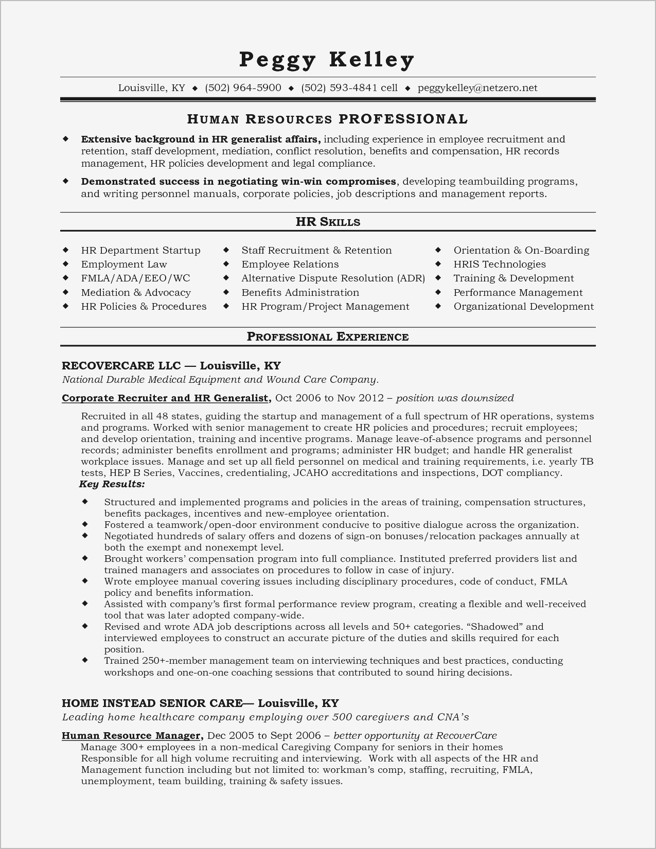 Kelley Resume Template - 25 Awesome Sample Resume Summary