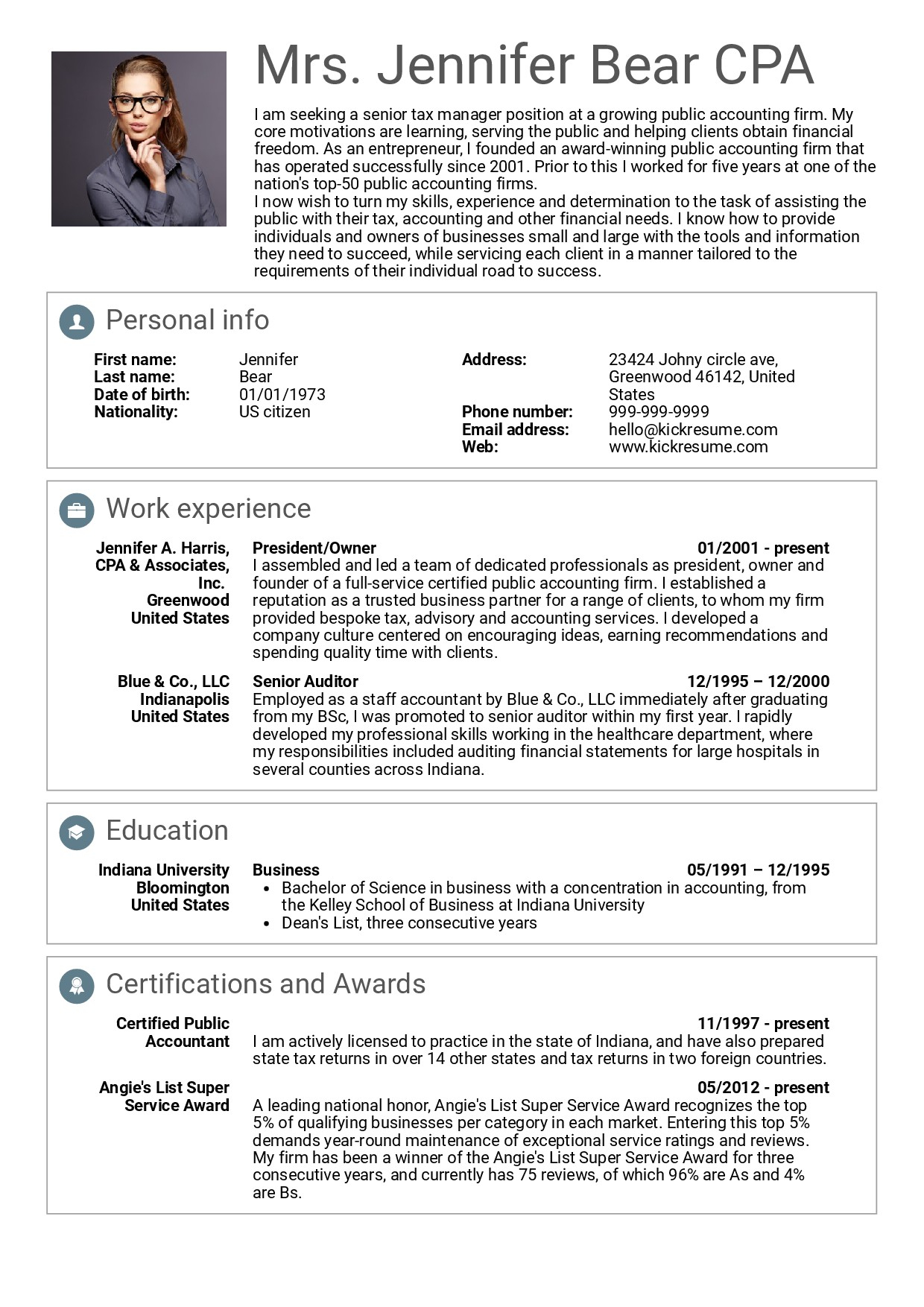 Kelley School Of Business Resume Template - Senior Executive Resume Examples