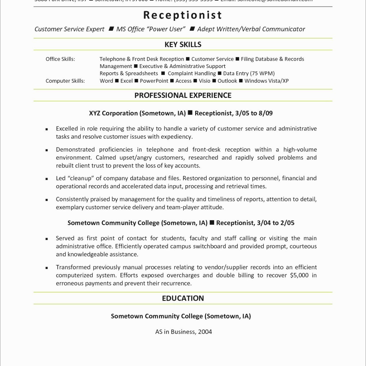 Key Qualifications to Put On A Resume - 31 Charming Career Focus Resume R3s