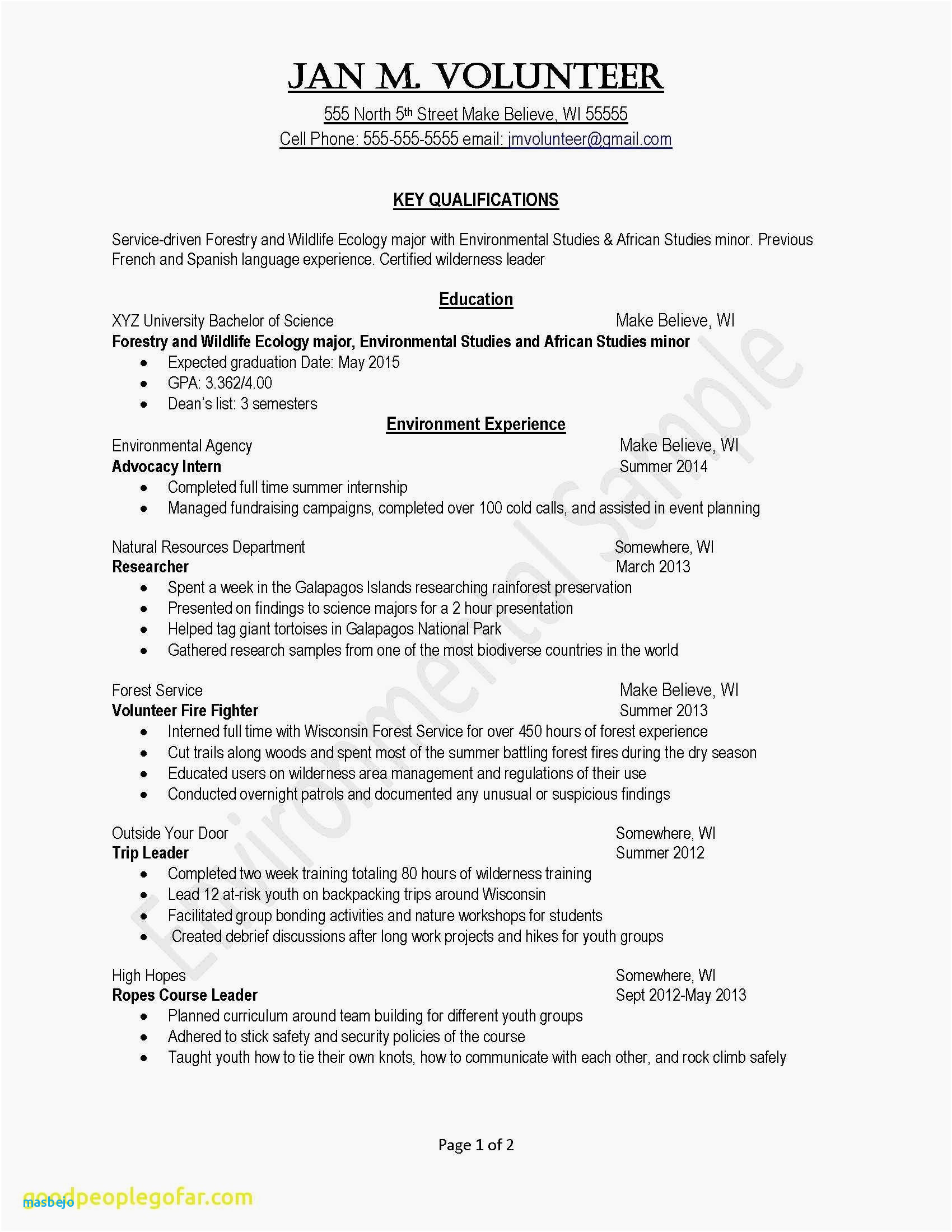 Key Skills for Resume - Example Skills Resume Awesome Examples Resumes Ecologist Resume 0d