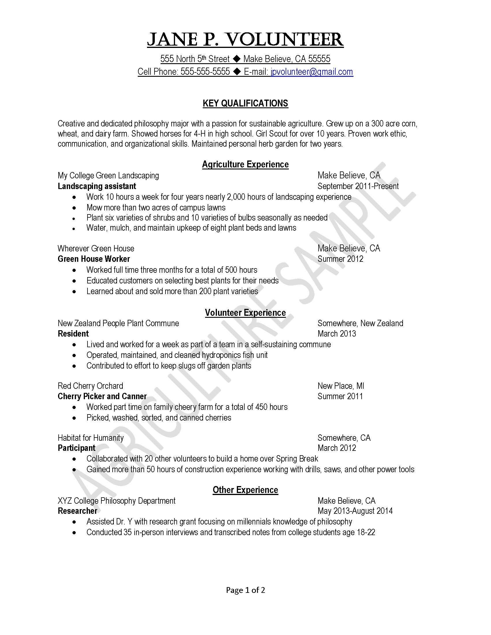 Landscape Job Description for Resume - Certified Mail Letter Template Samples